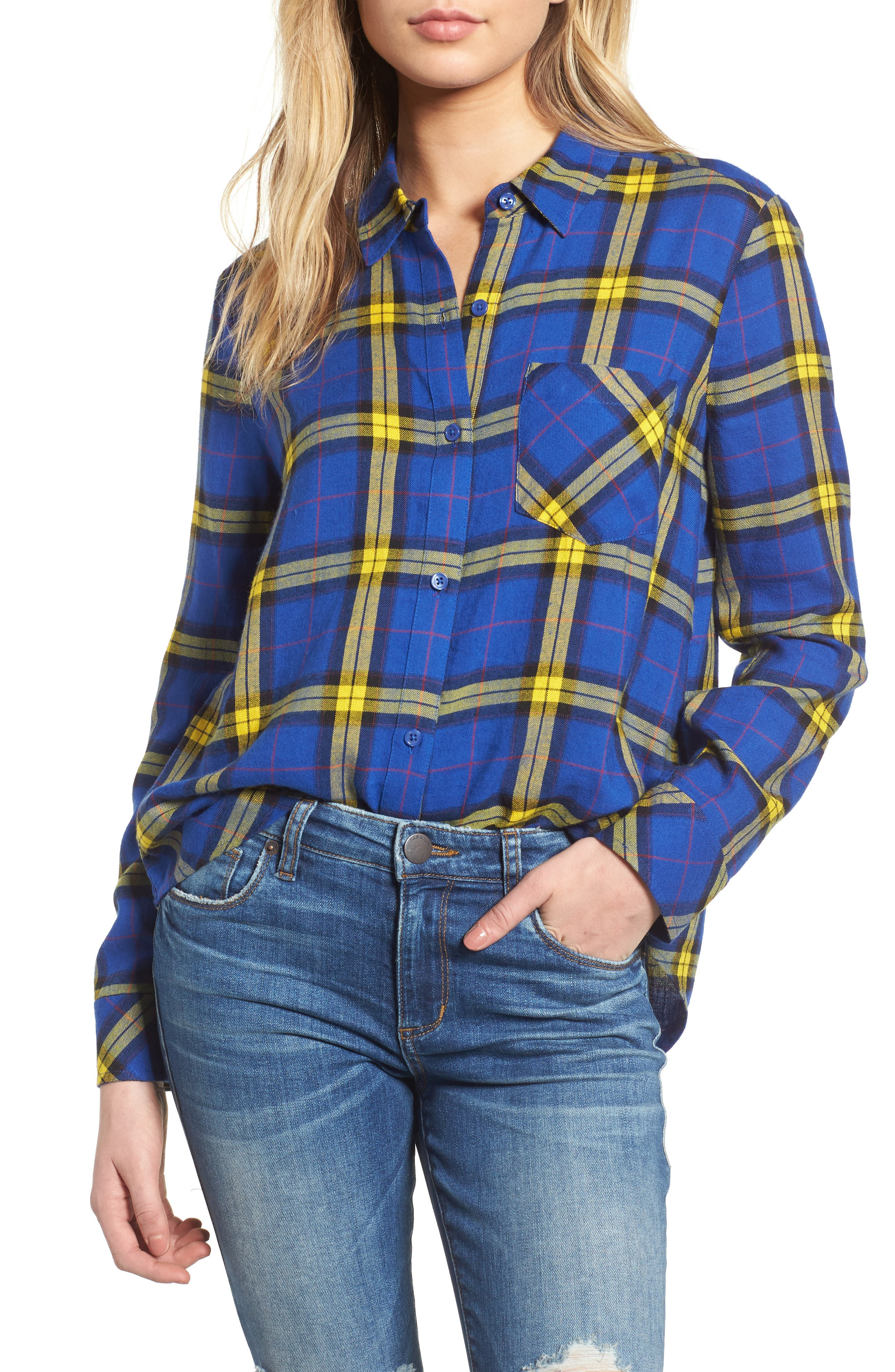 Plaid Shirt,                         Main,                         color, BLUE MAZARINE KIPLEIGH PLAID