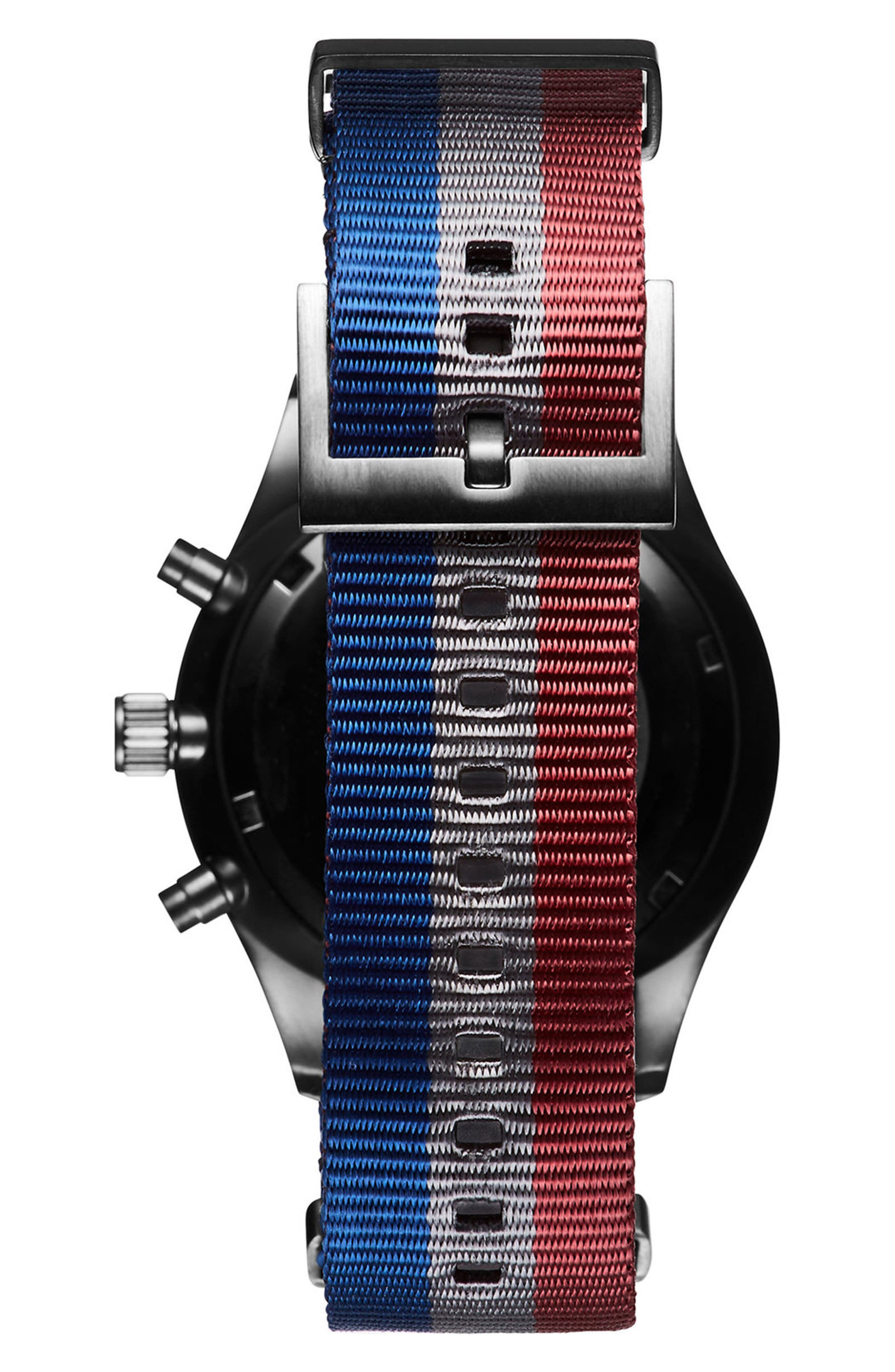 Voyager Chronograph Canvas Strap Watch, 42mm,                             Alternate thumbnail 2, color,                             020