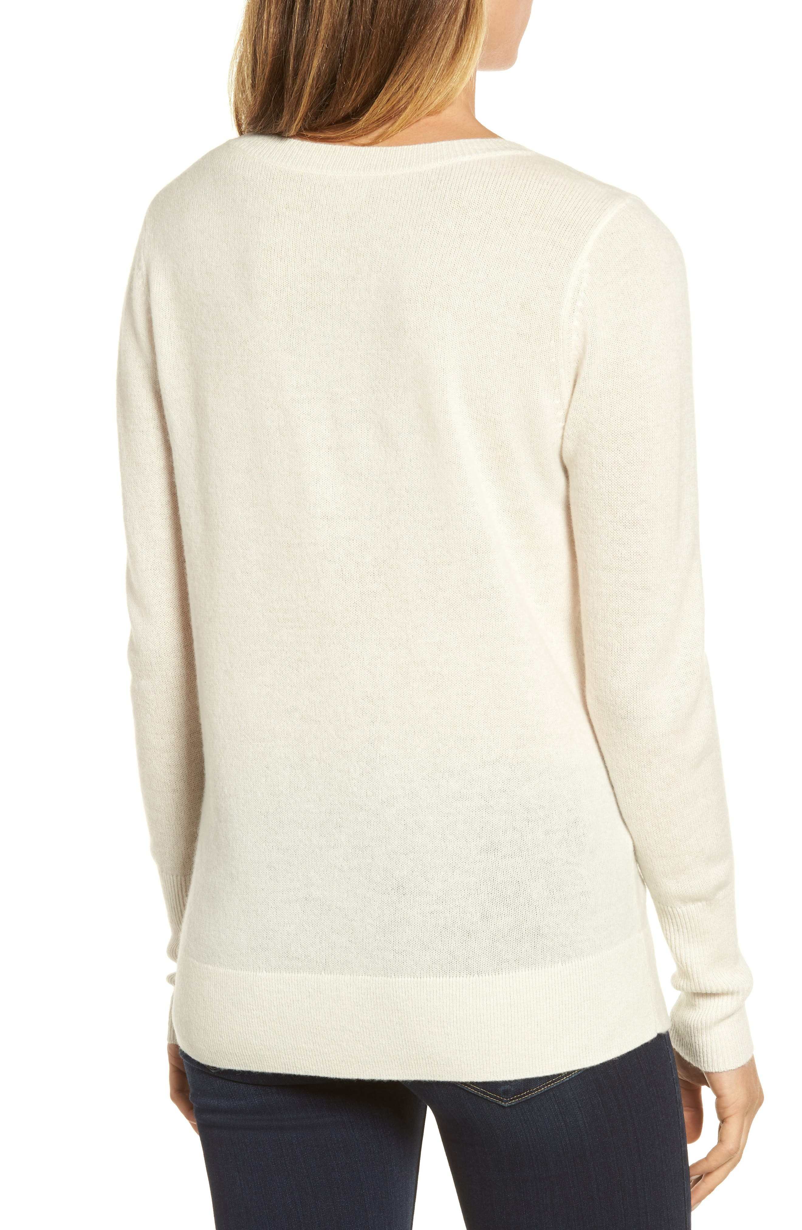 V-Neck Cashmere Sweater,                             Alternate thumbnail 30, color,