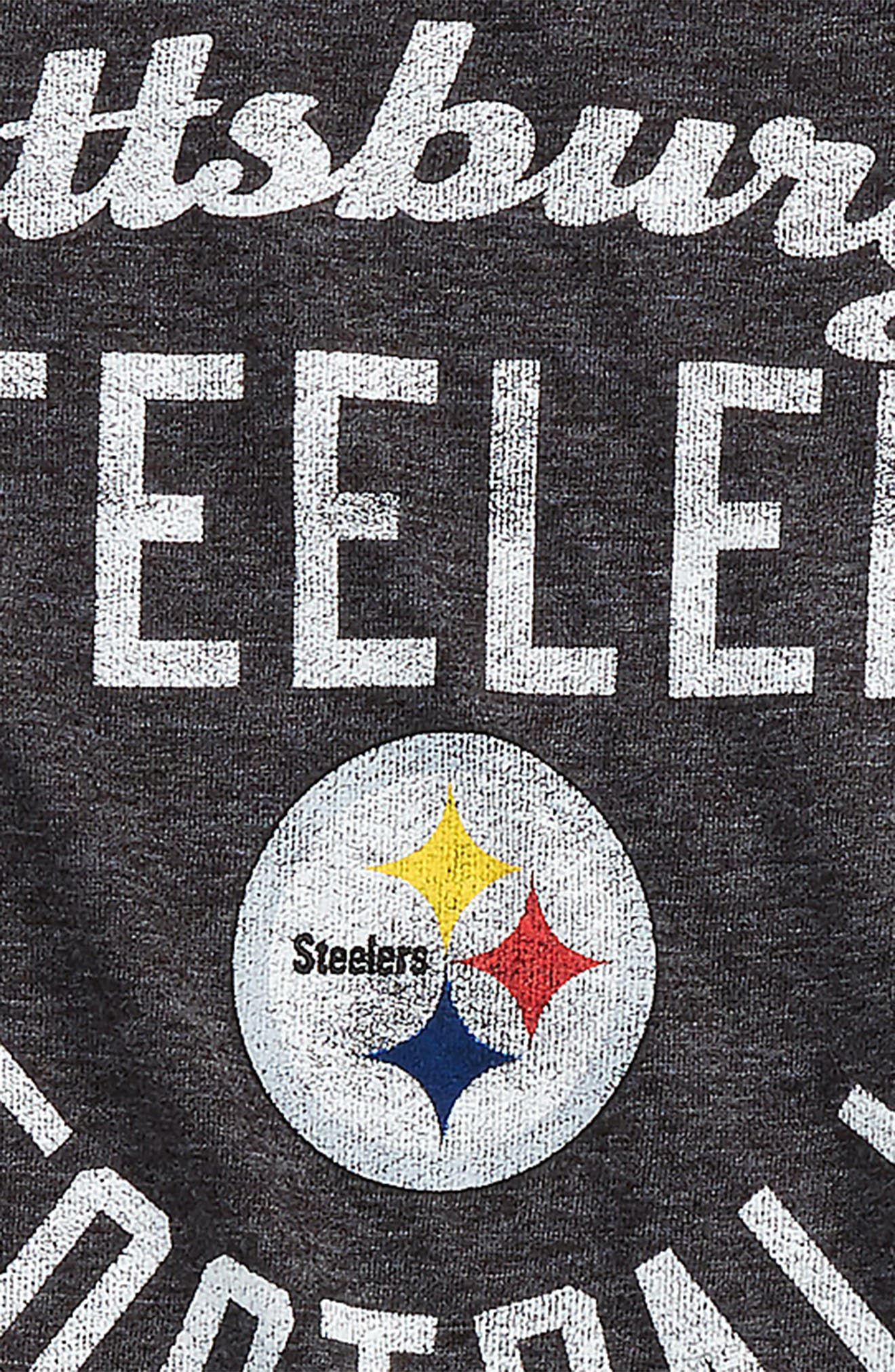 NFL Pittsburgh Steelers Distressed Logo T-Shirt,                             Alternate thumbnail 2, color,                             001