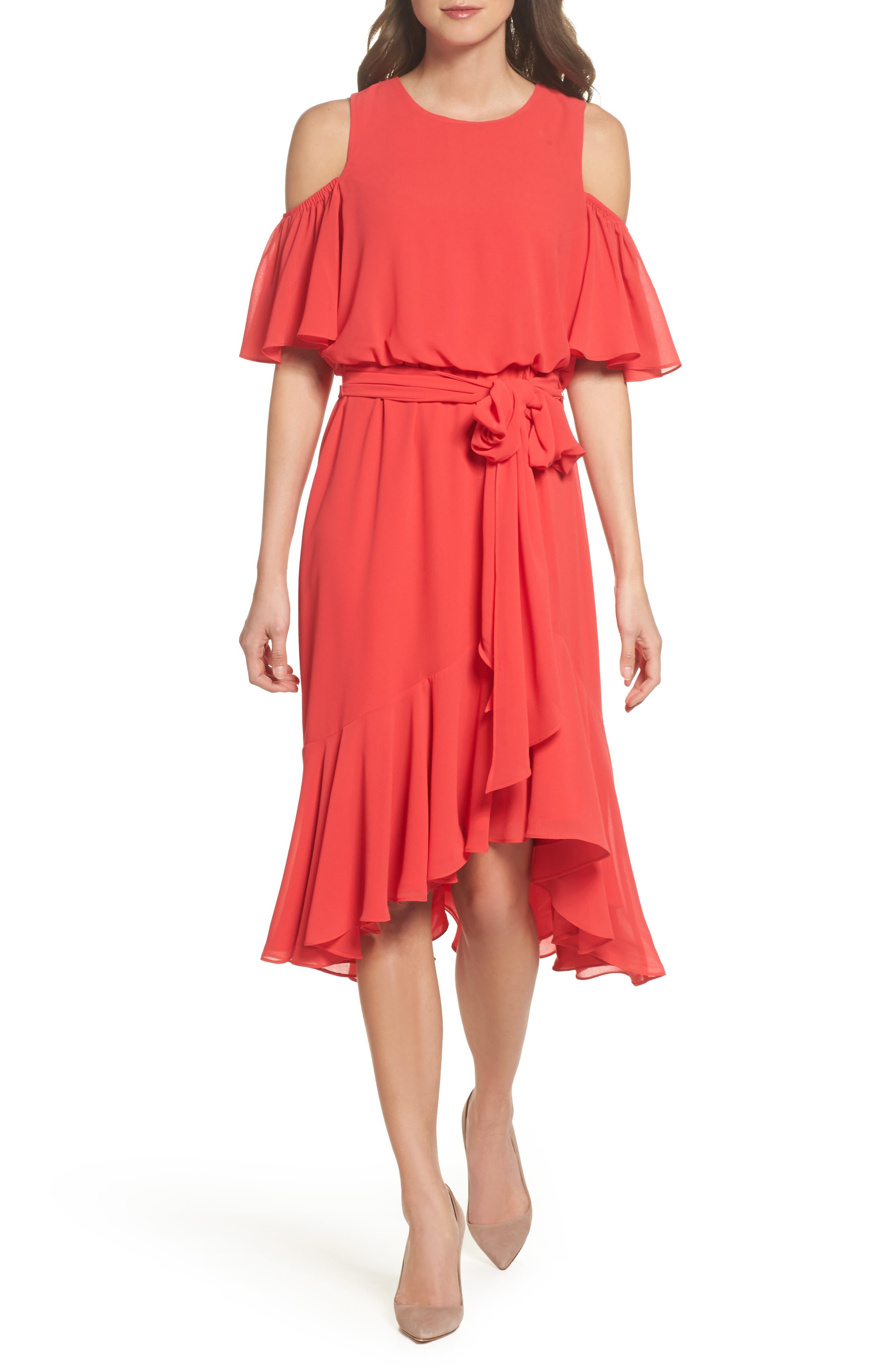 Cold Shoulder Dress,                             Main thumbnail 1, color,                             652