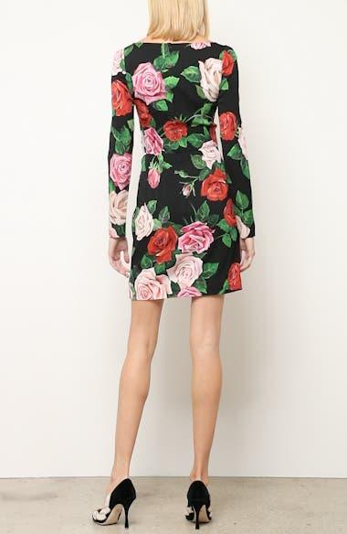 Rose Print Stretch Silk Dress, video thumbnail