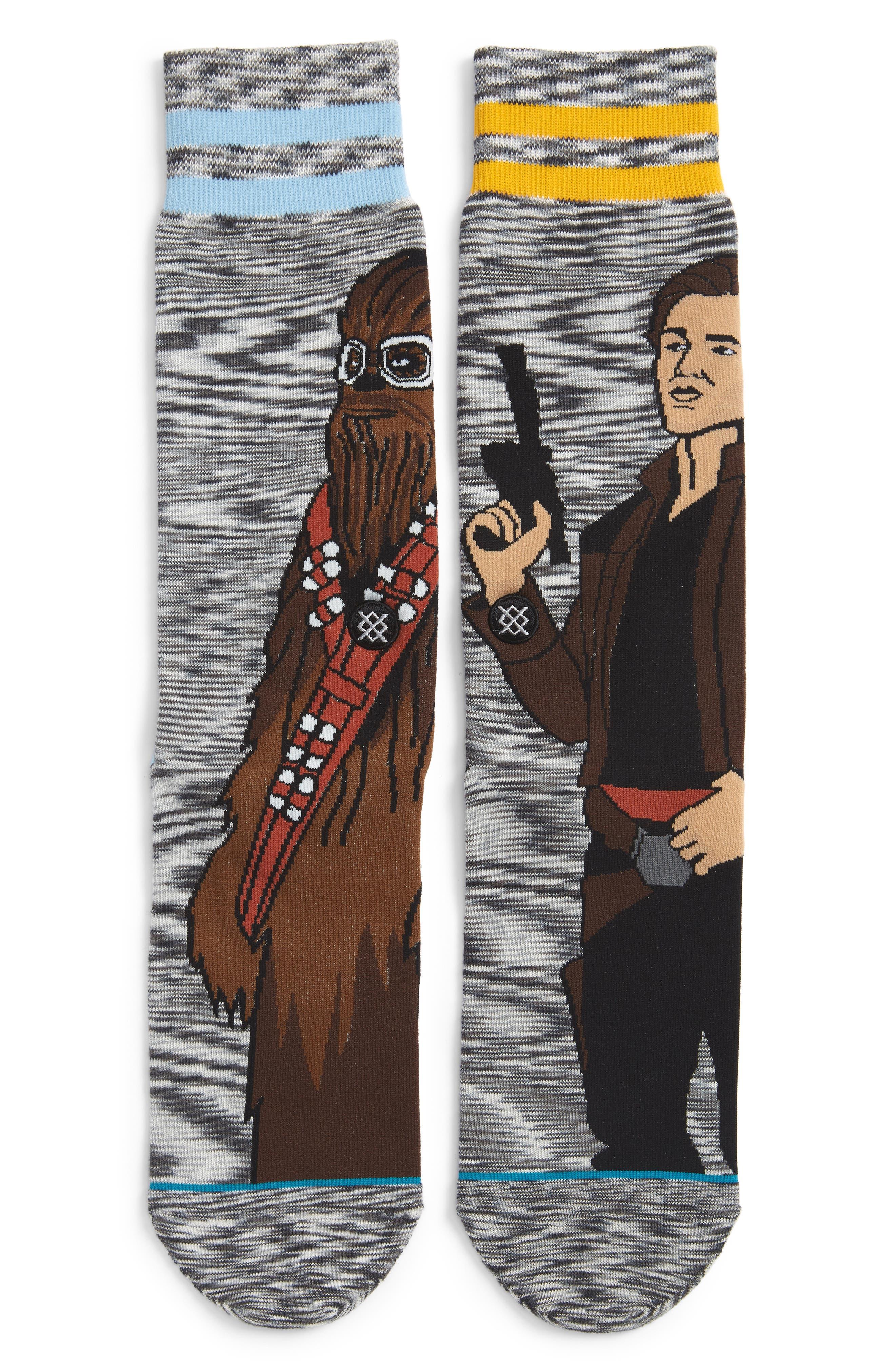 Star Wars Kessel Run Socks,                             Main thumbnail 1, color,                             GREY