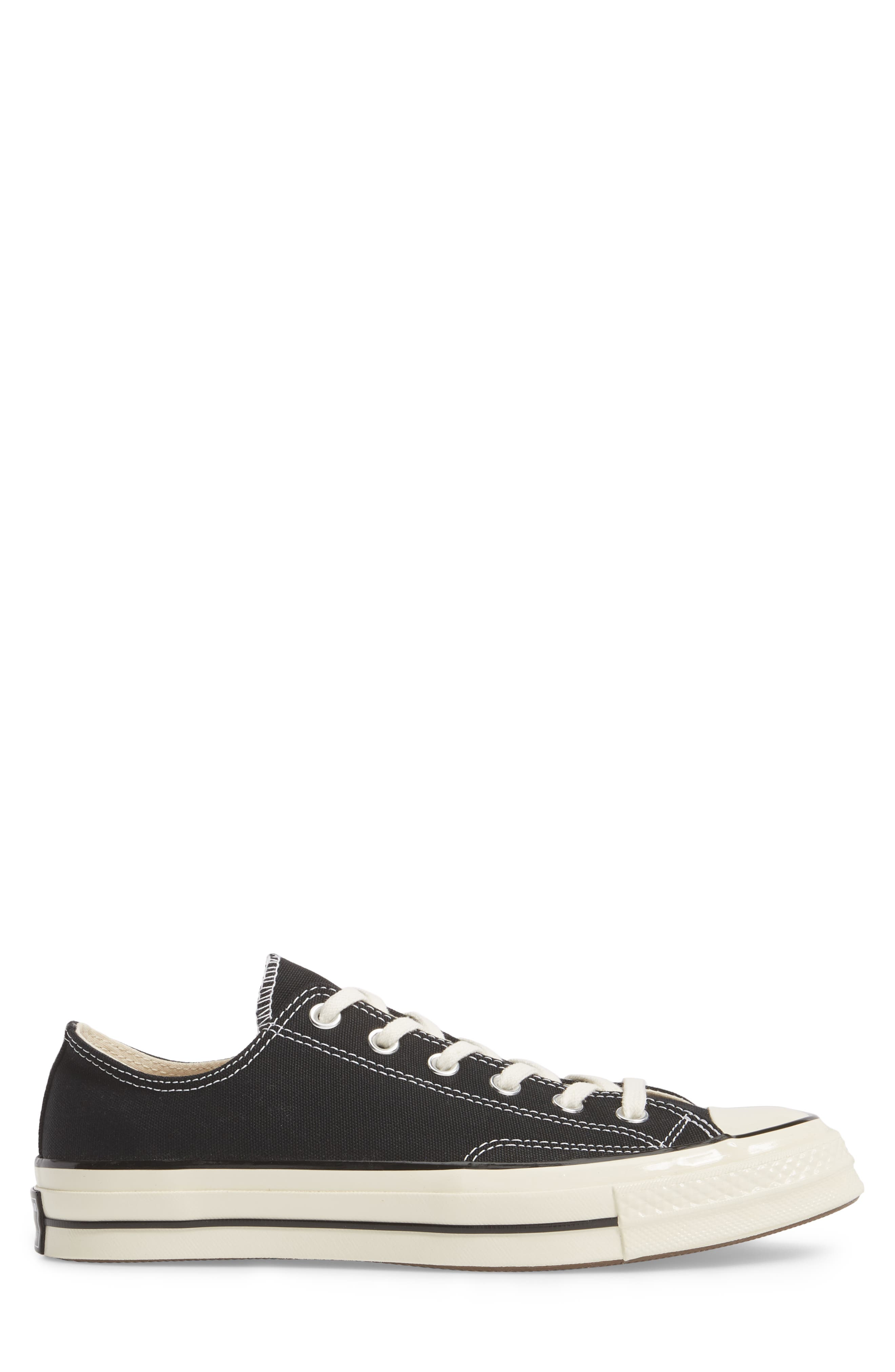 Chuck Taylor<sup>®</sup> All Star<sup>®</sup> 70 Low Top Sneaker,                             Alternate thumbnail 3, color,                             BLACK