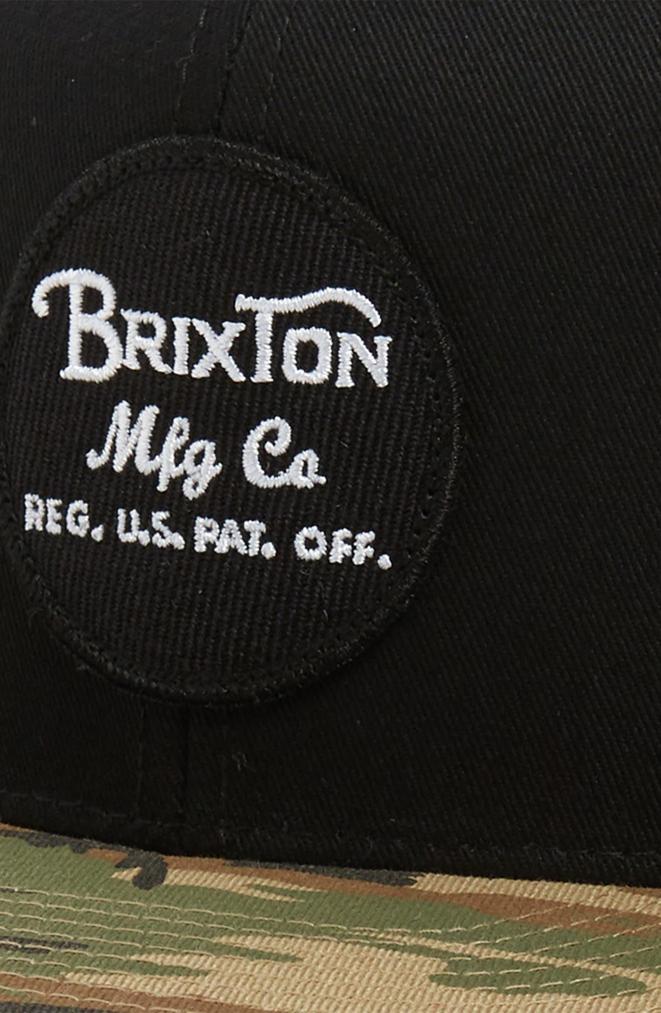 'Wheeler' Snapback Cap,                             Alternate thumbnail 3, color,                             BLACK/ CAMO