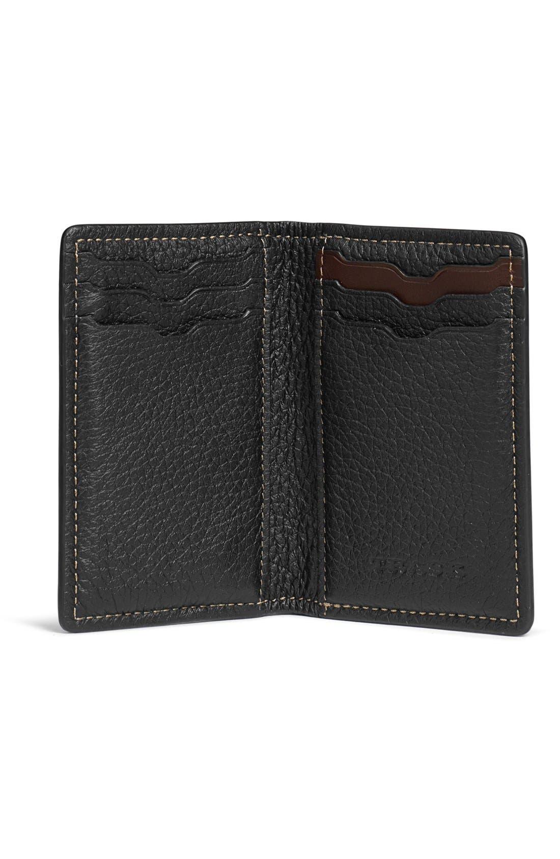 'Jackson' Folding Card Case,                             Alternate thumbnail 2, color,                             BLACK