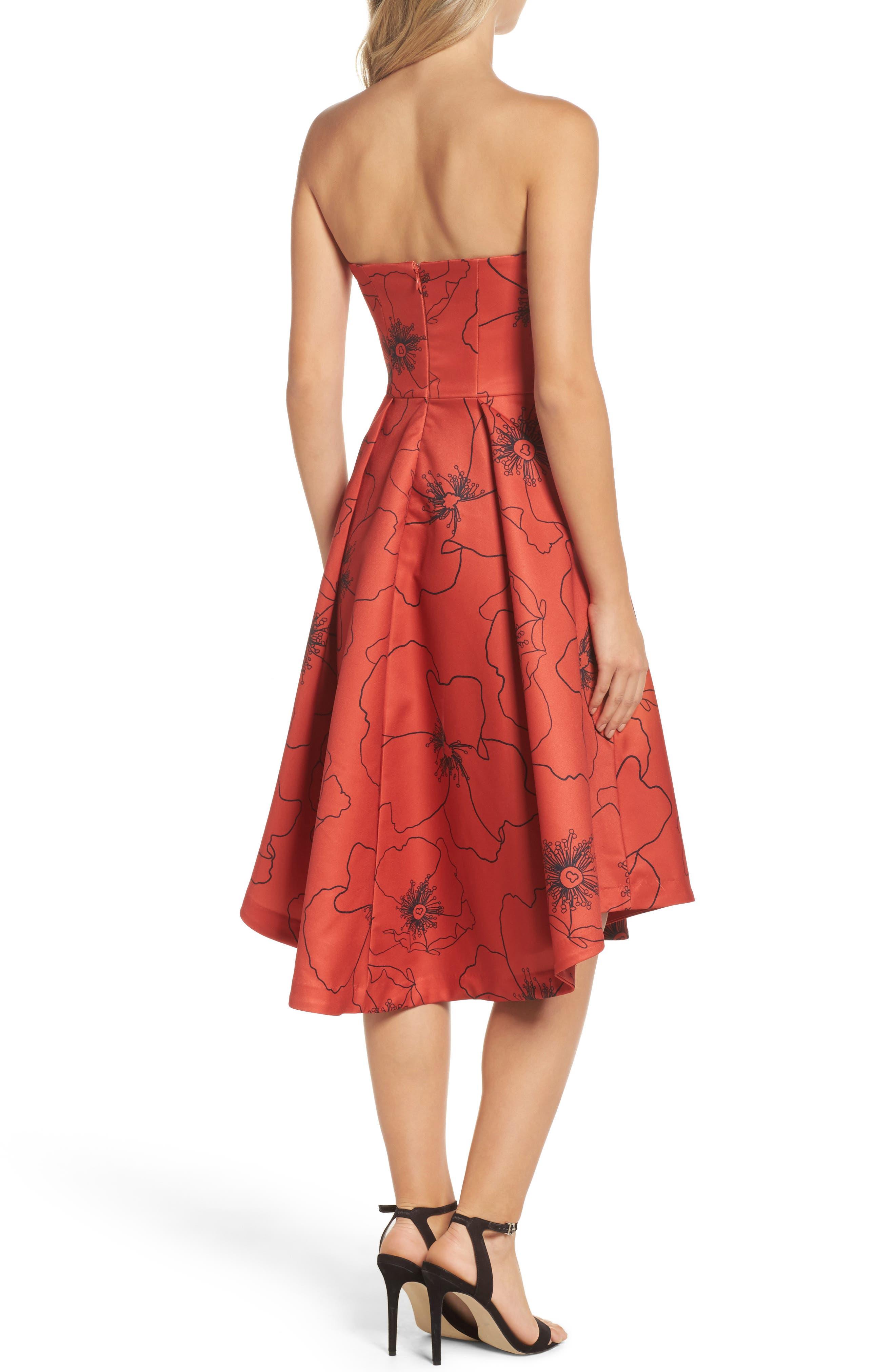 Burnt Fields Strapless Dress,                             Alternate thumbnail 2, color,                             606