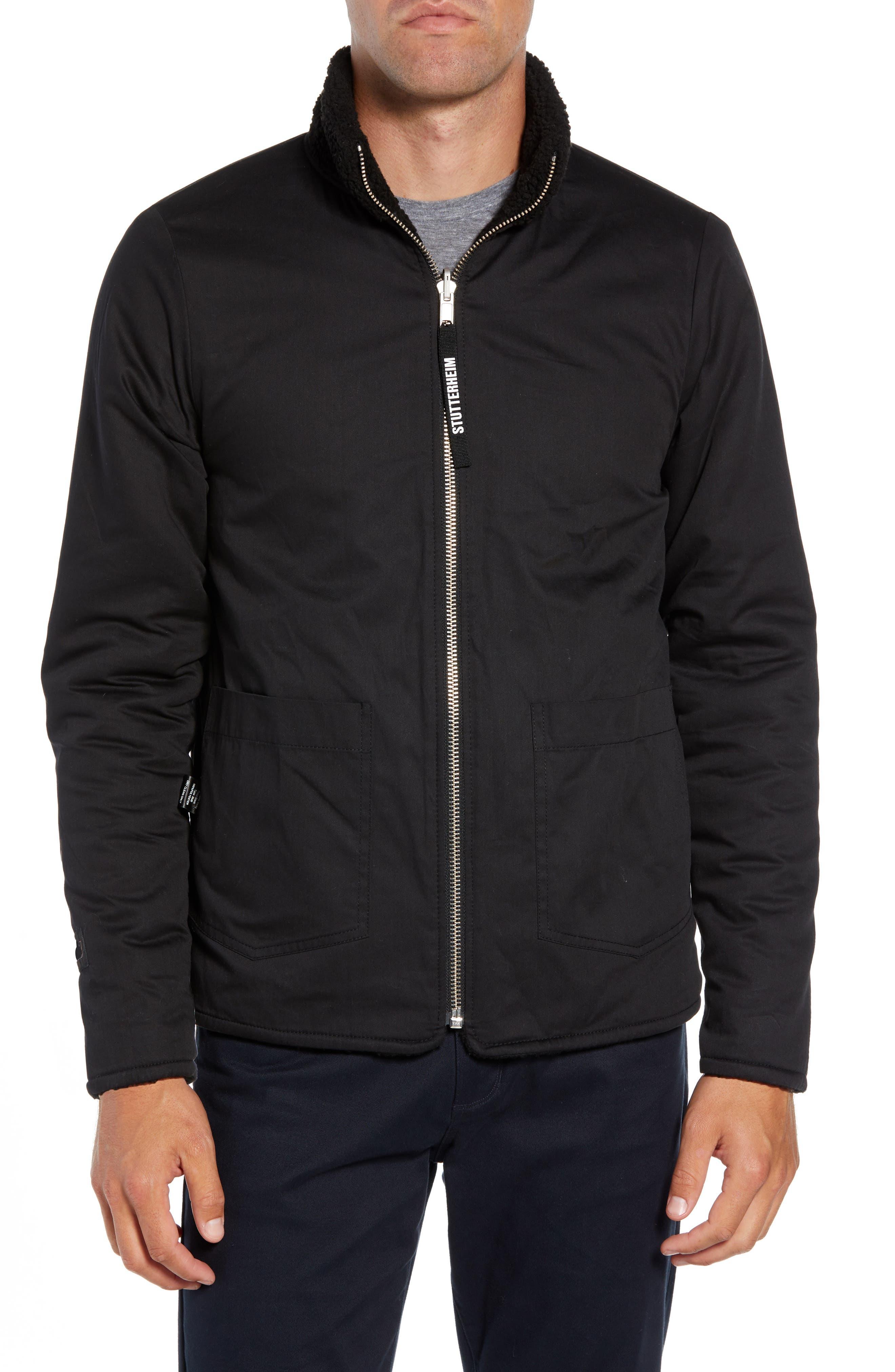 Varby Reversible Fleece Jacket,                             Alternate thumbnail 2, color,                             BLACK