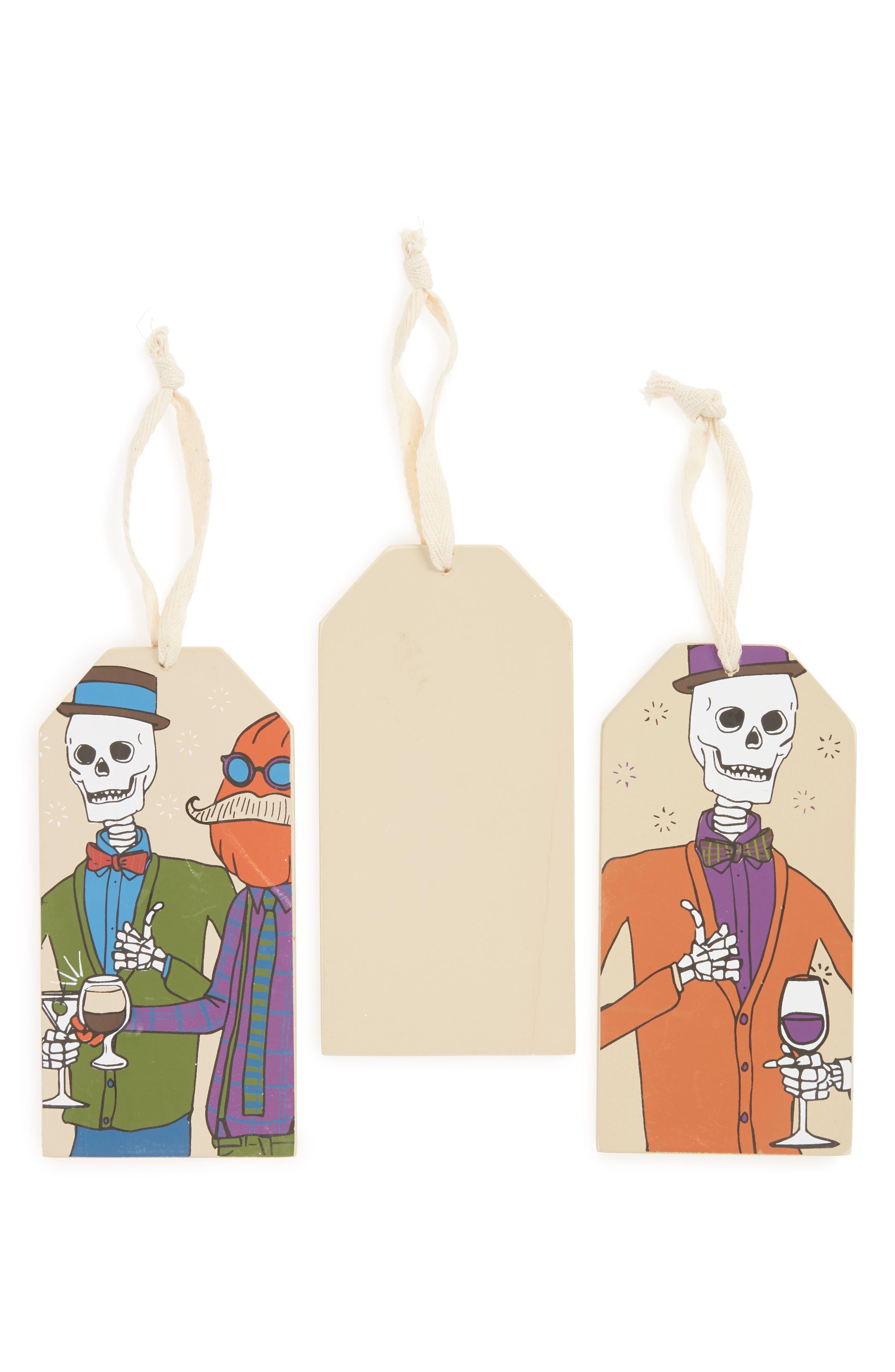 Set of 3 Halloween Wine Bottle Tags,                             Alternate thumbnail 2, color,                             800
