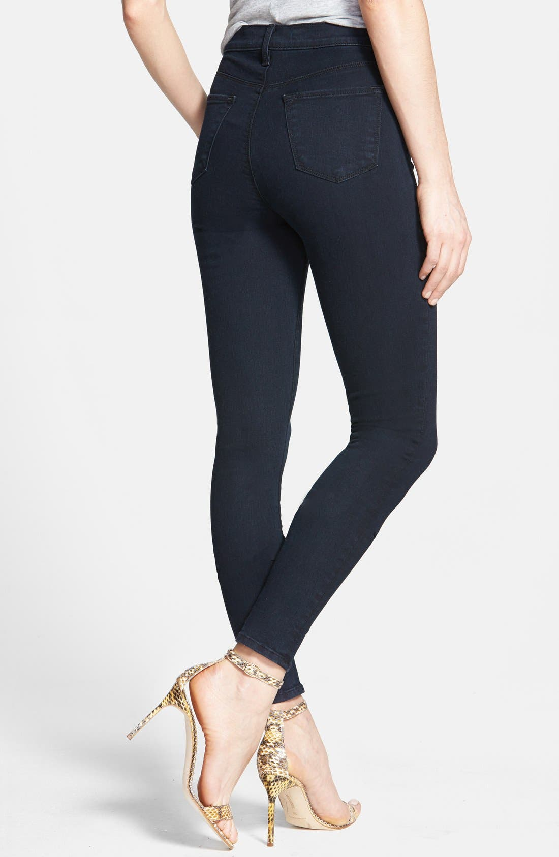 2311 Maria High Waist Super Skinny Jeans,                             Alternate thumbnail 3, color,                             BLUE BIRD