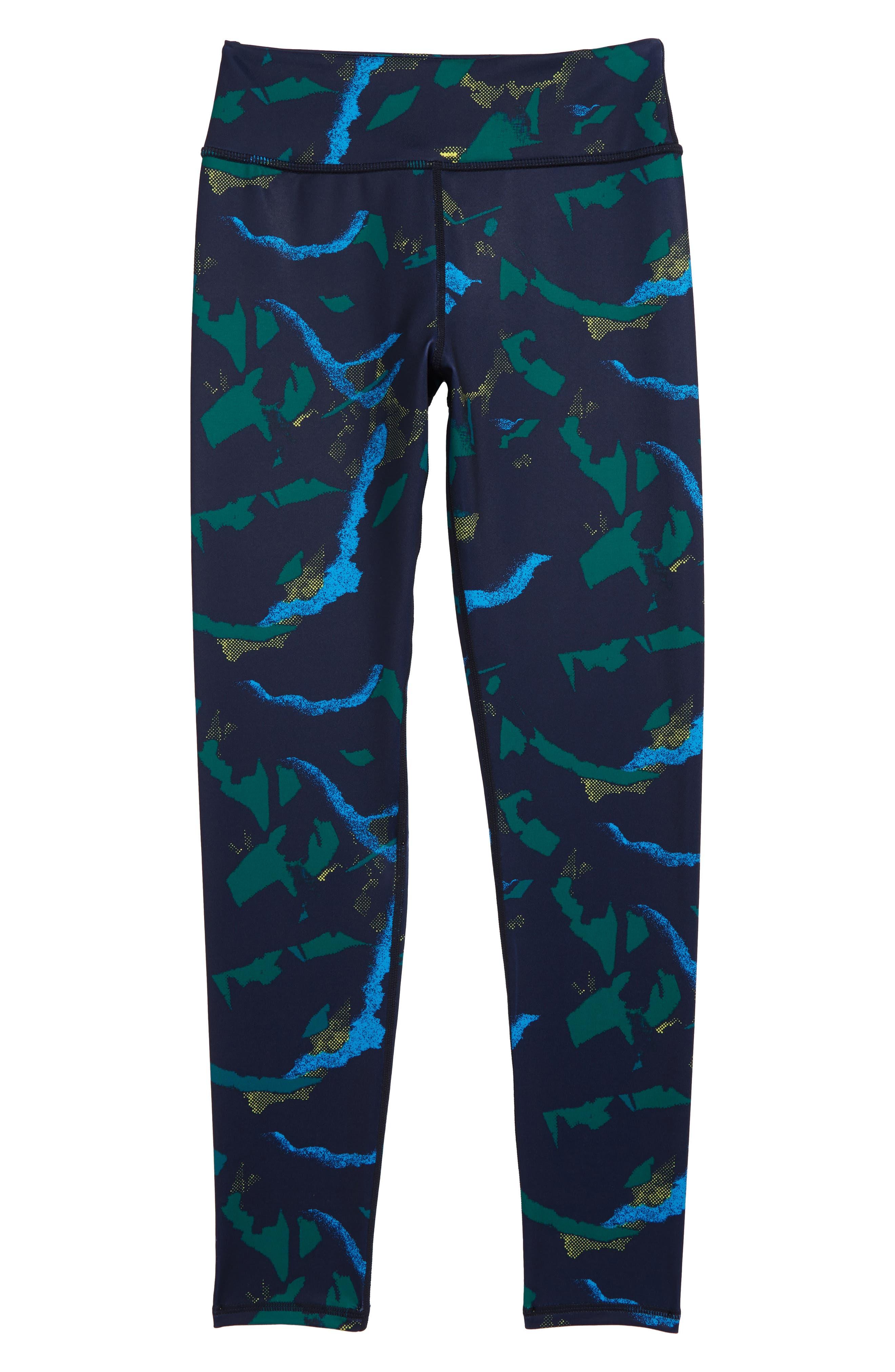 Print High Waist Leggings,                         Main,                         color, NAVY MARITIME ABSTRACT POP