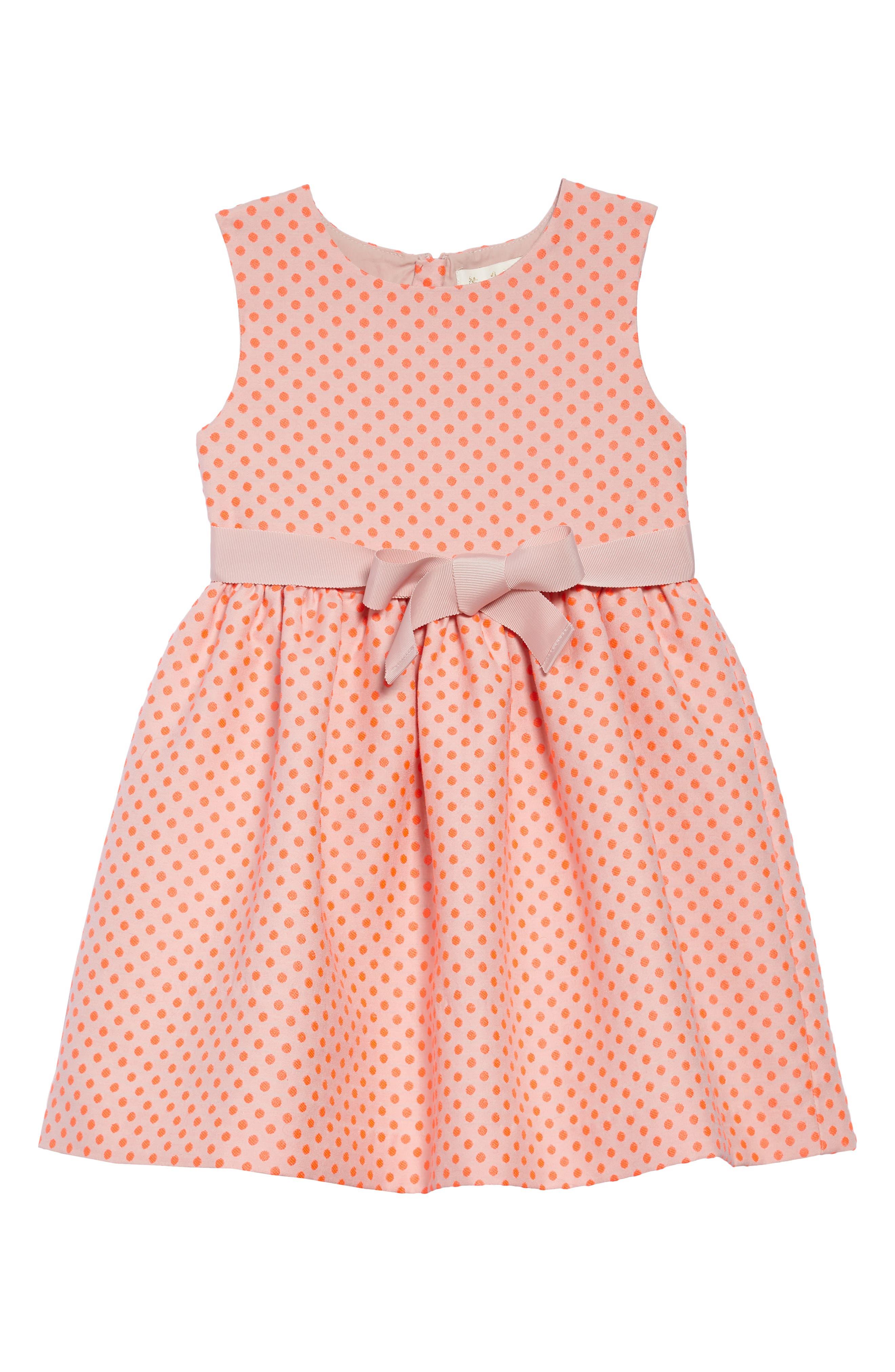 Dot Sleeveless Dress,                         Main,                         color, 664