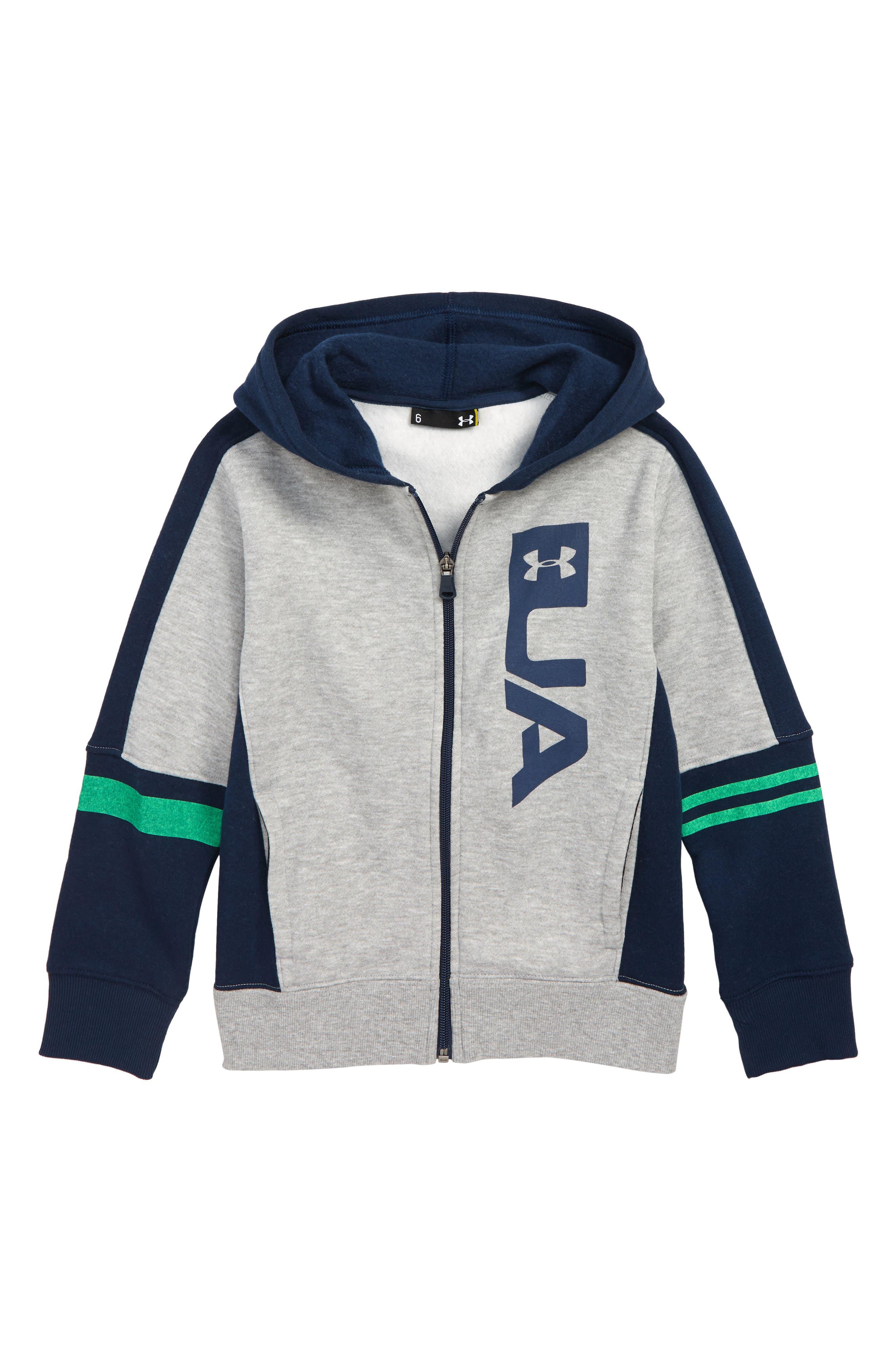 Boys Under Armour Rival Logo Full Zip Hoodie