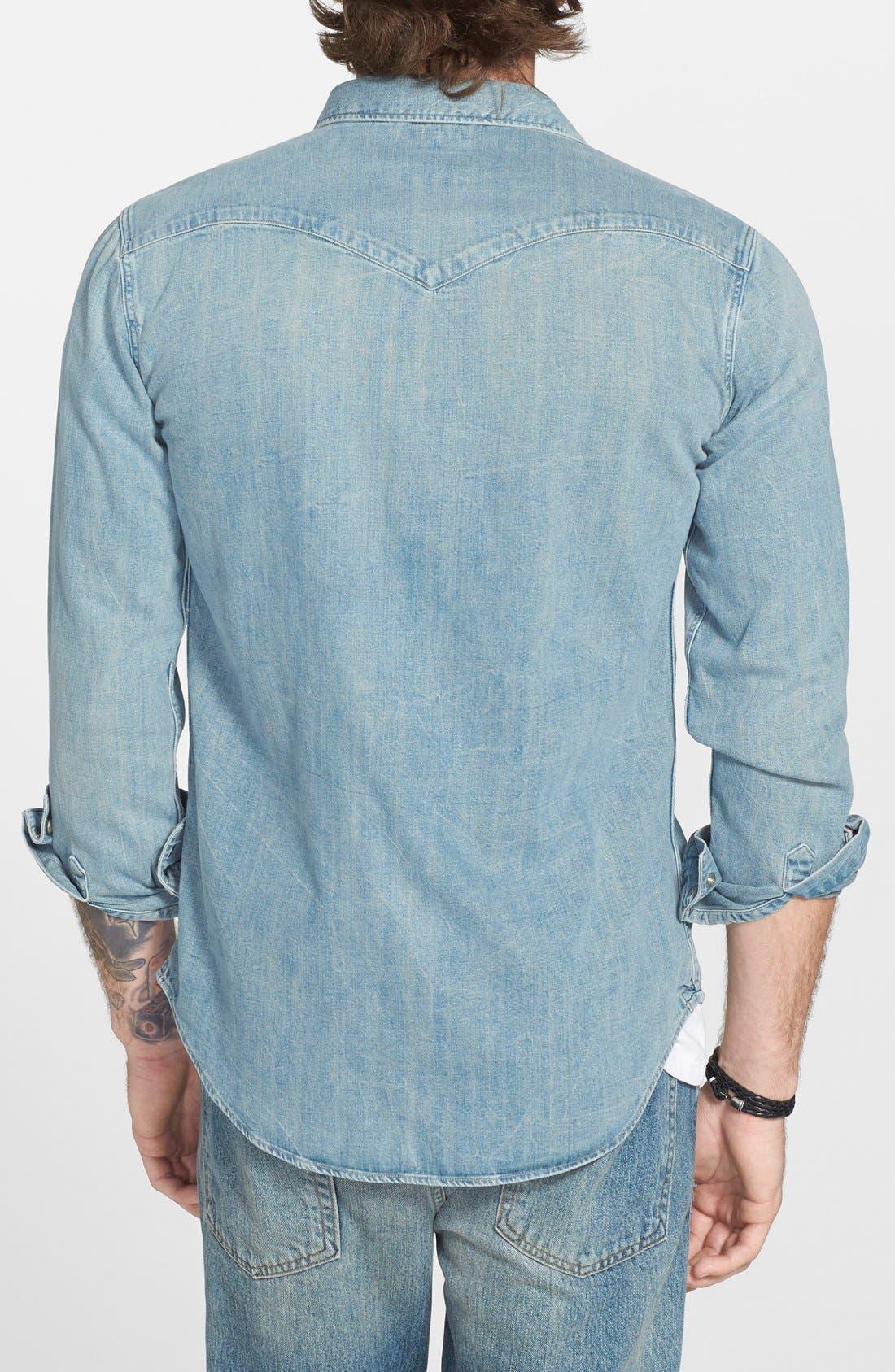 'Barstow' Denim Western Shirt,                             Alternate thumbnail 18, color,