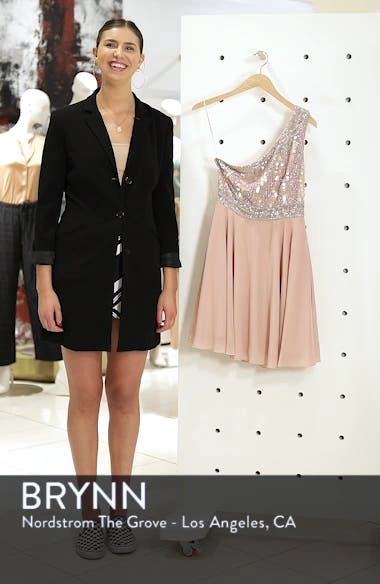 Althea Embellished One-Shoulder Dress, sales video thumbnail