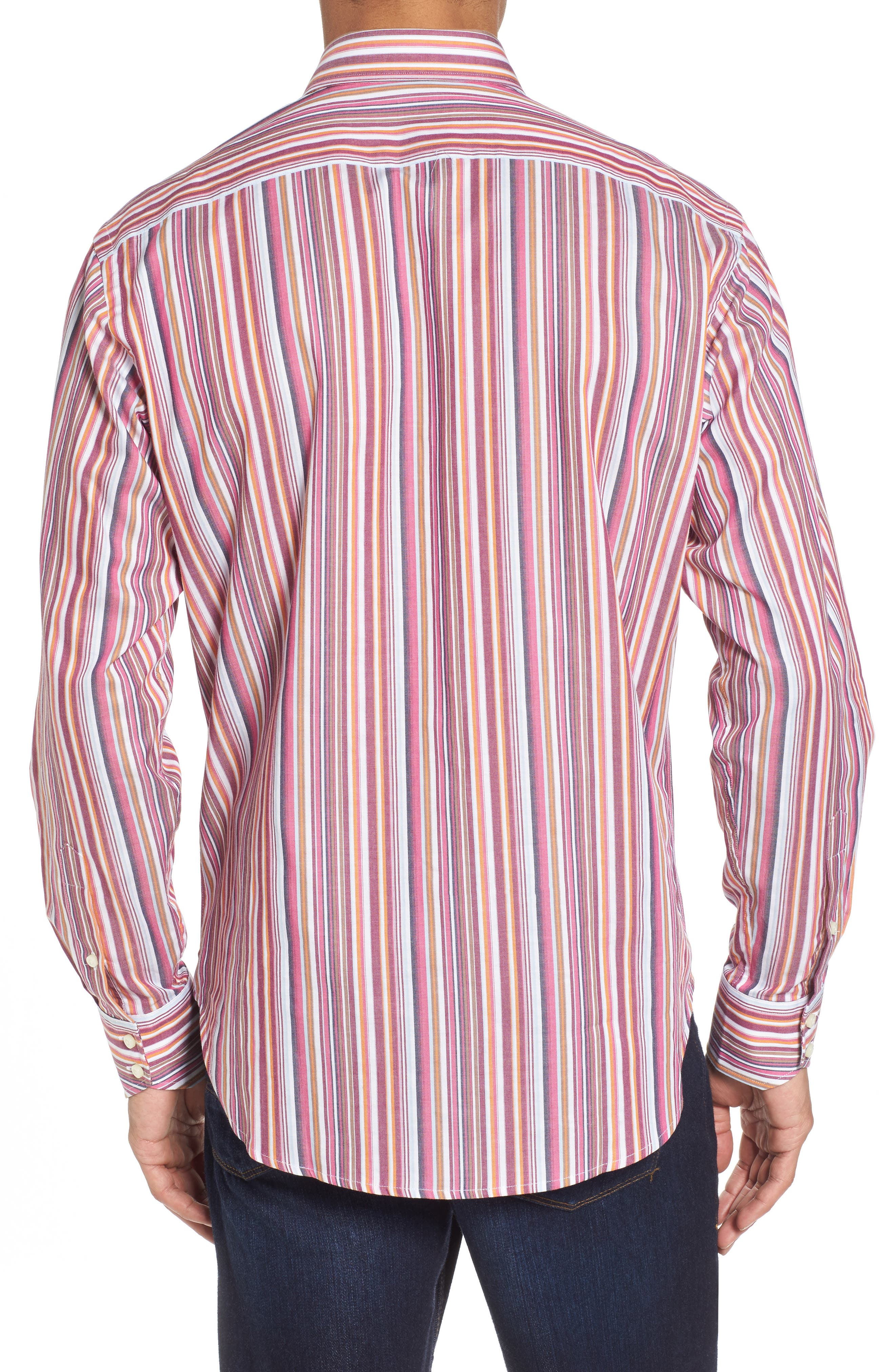 Regular Fit Stripe Sport Shirt,                             Alternate thumbnail 2, color,