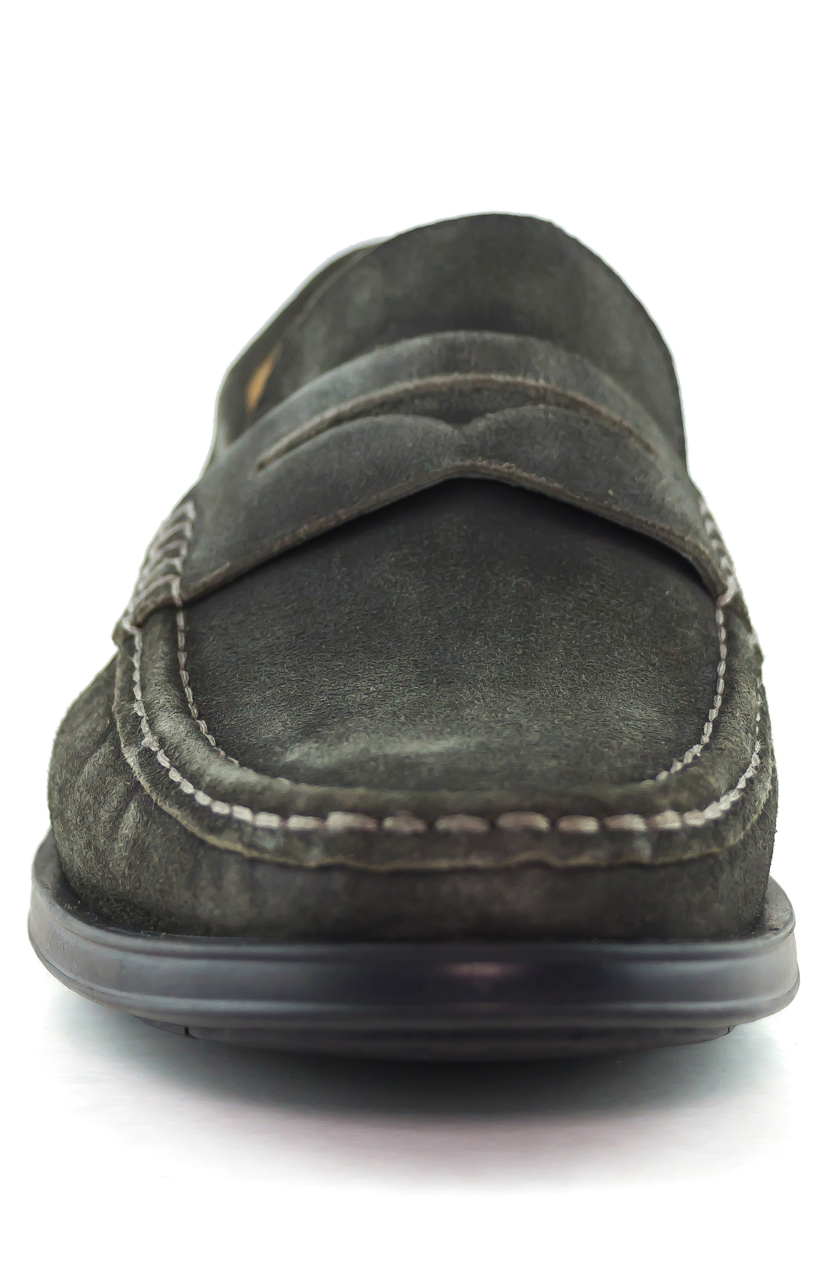 Cortland Penny Loafer,                             Alternate thumbnail 4, color,                             GRAPHITE LEATHER