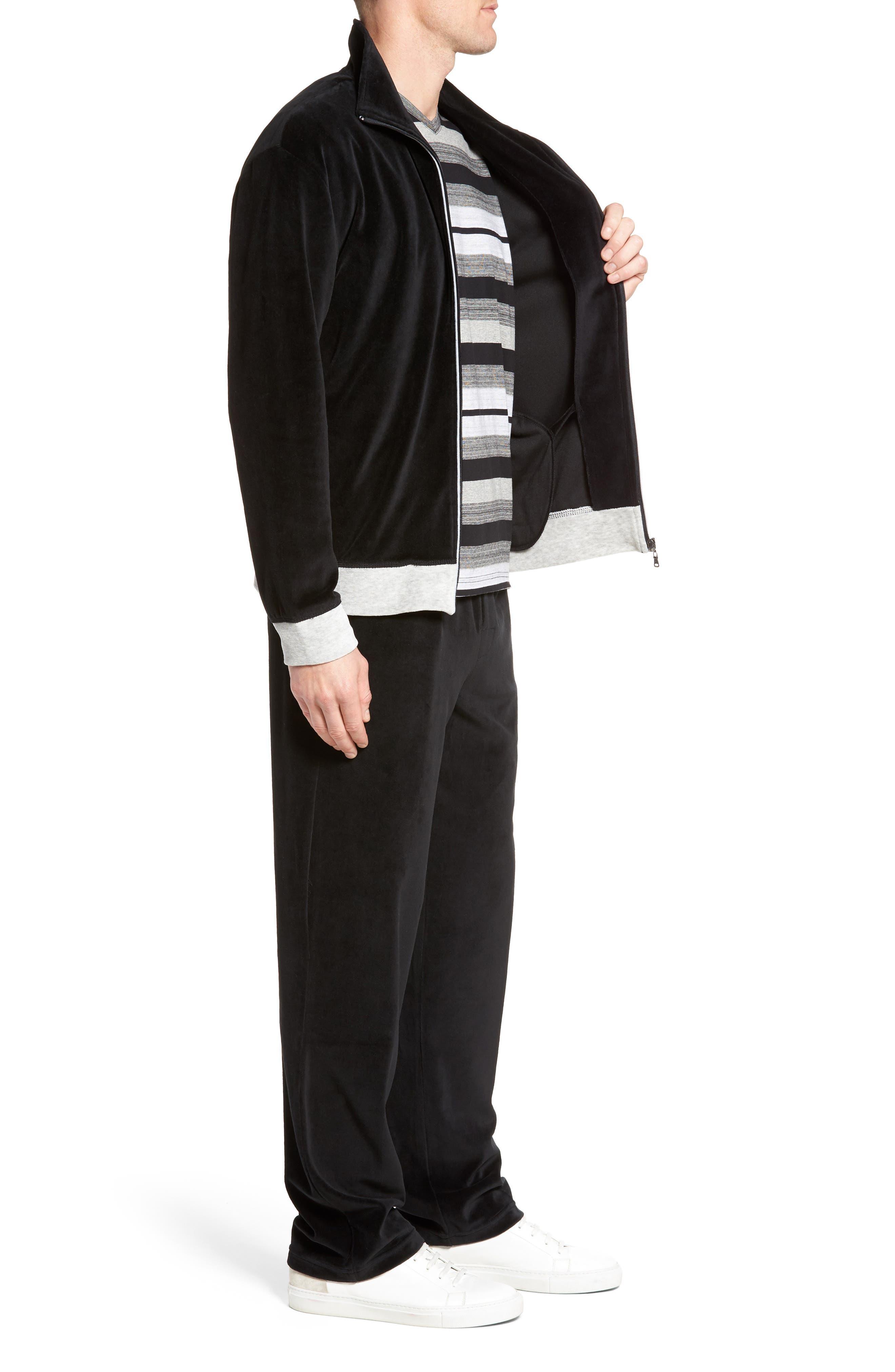 Strathcona Velour Warm-Up Suit,                             Alternate thumbnail 3, color,                             001