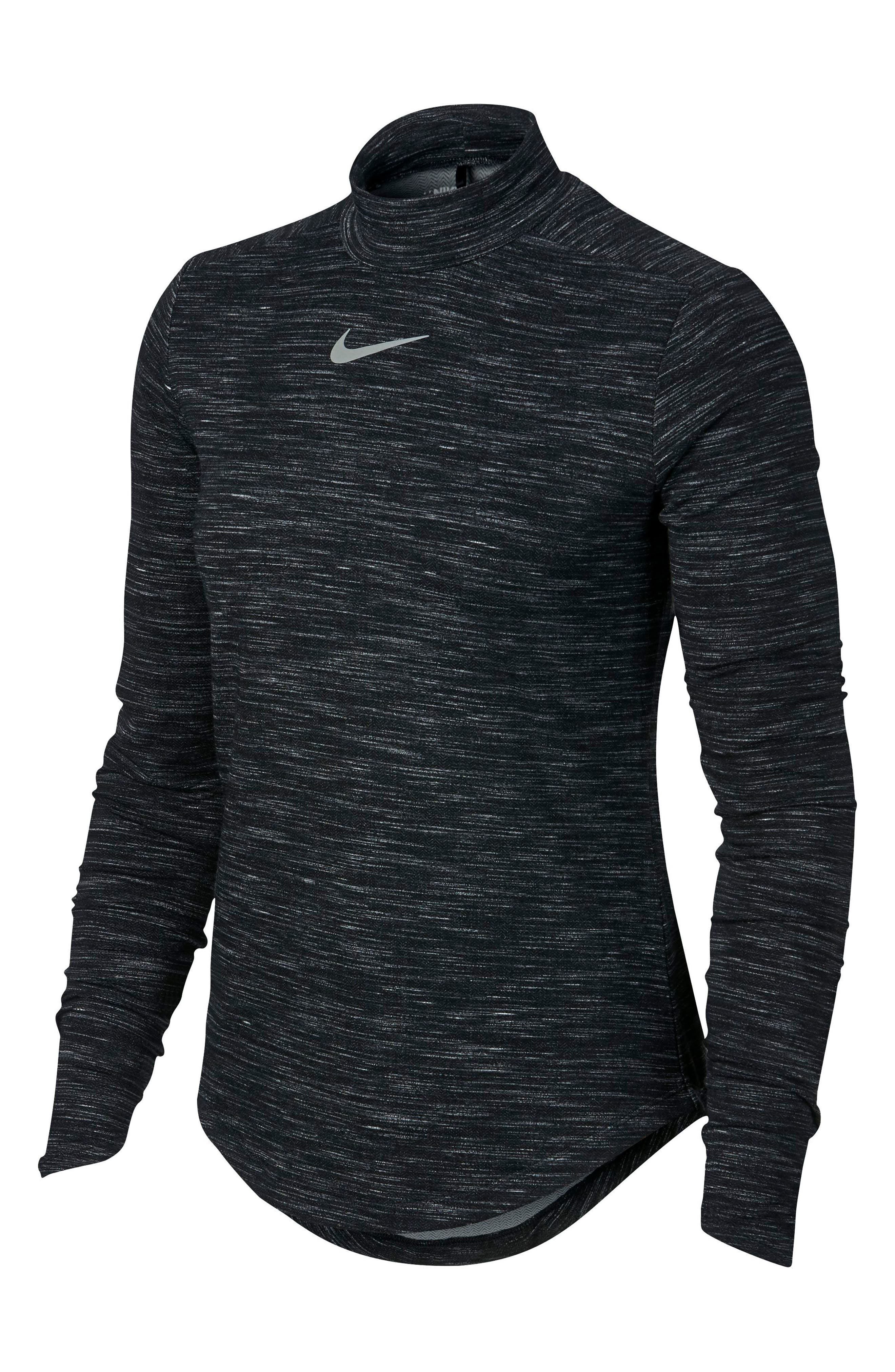 Dry Long Sleeve Golf Top,                             Alternate thumbnail 4, color,                             010