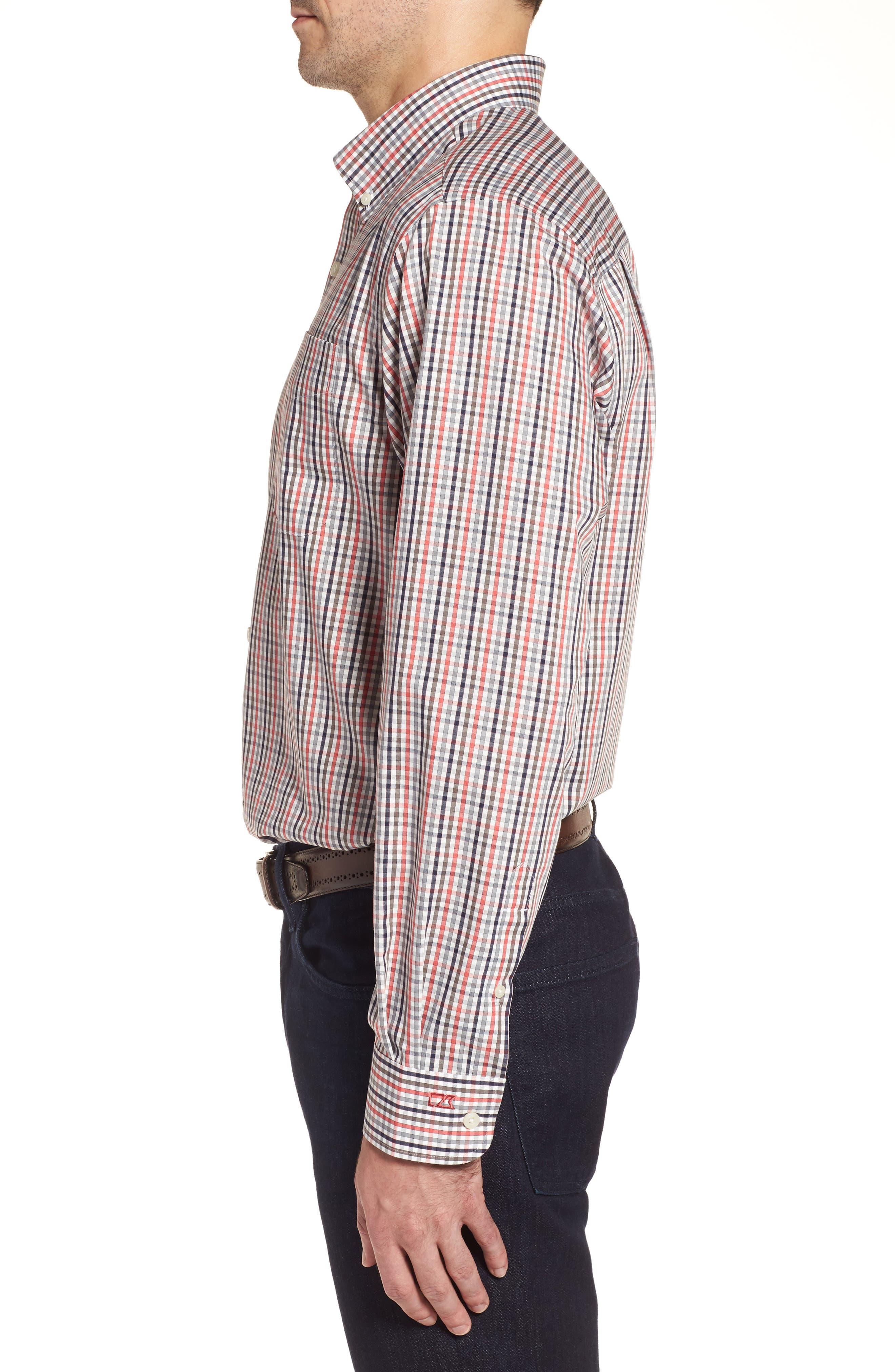 Baxter Epic Easy Care Classic Fit Plaid Sport Shirt,                             Alternate thumbnail 3, color,                             622