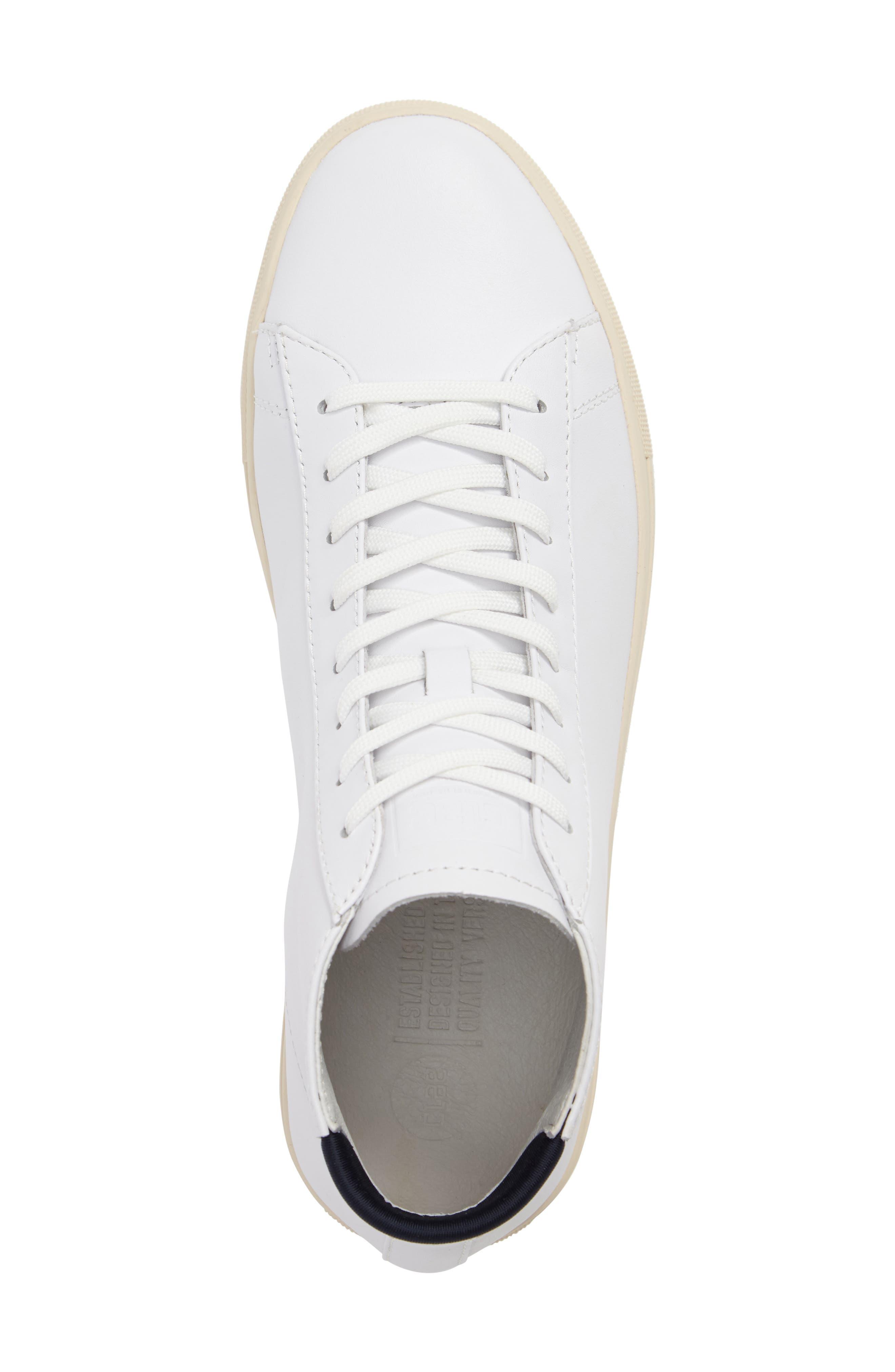 'Bradley Mid' Sneaker,                             Alternate thumbnail 5, color,                             WHITE/WHITE LEATHER