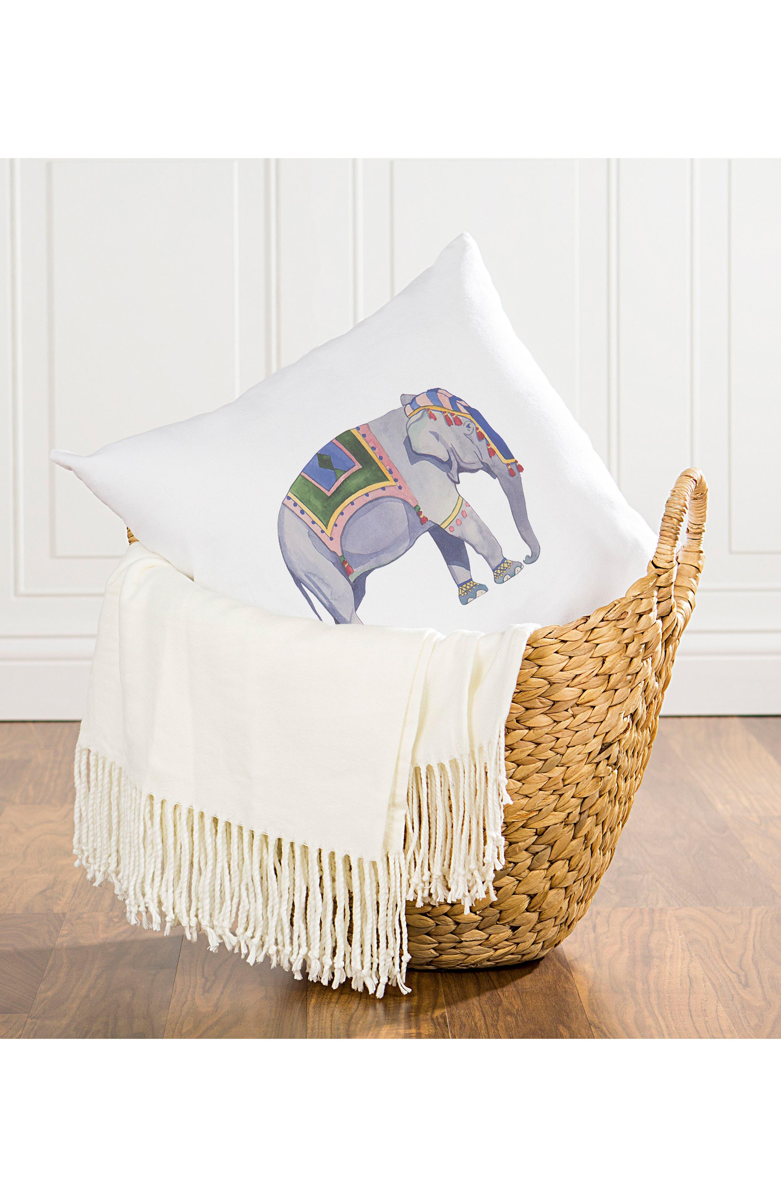 Elephant Accent Pillow,                             Alternate thumbnail 5, color,