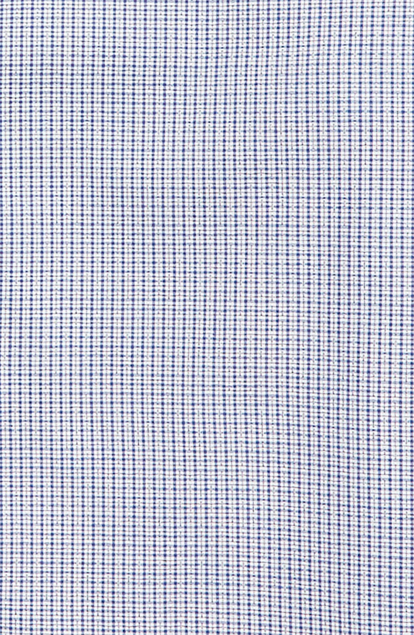 Neat Check Dress Shirt,                             Alternate thumbnail 2, color,                             NAVY/ WHITE