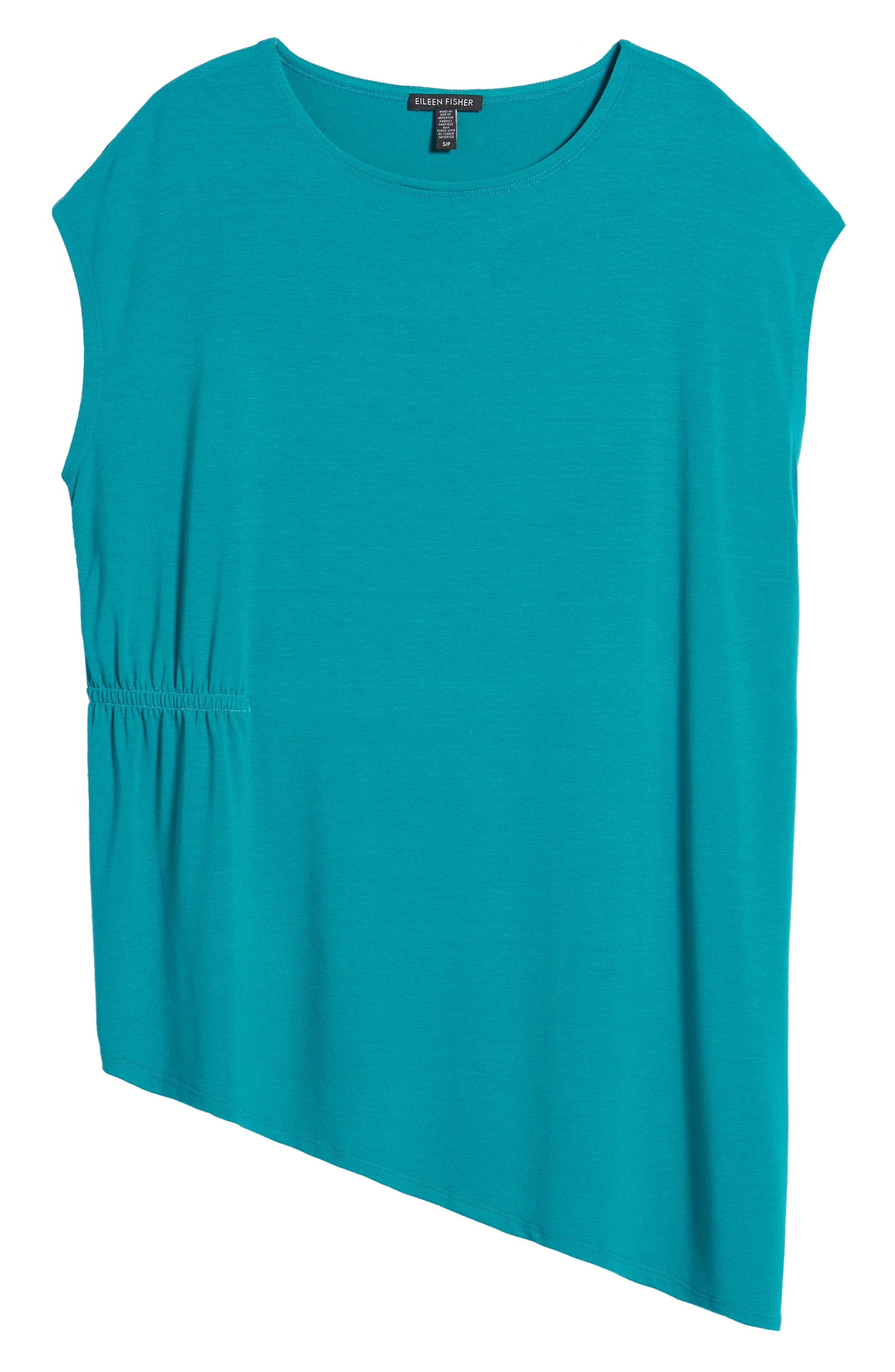 Asymmetrical Stretch Jersey Top,                             Alternate thumbnail 23, color,