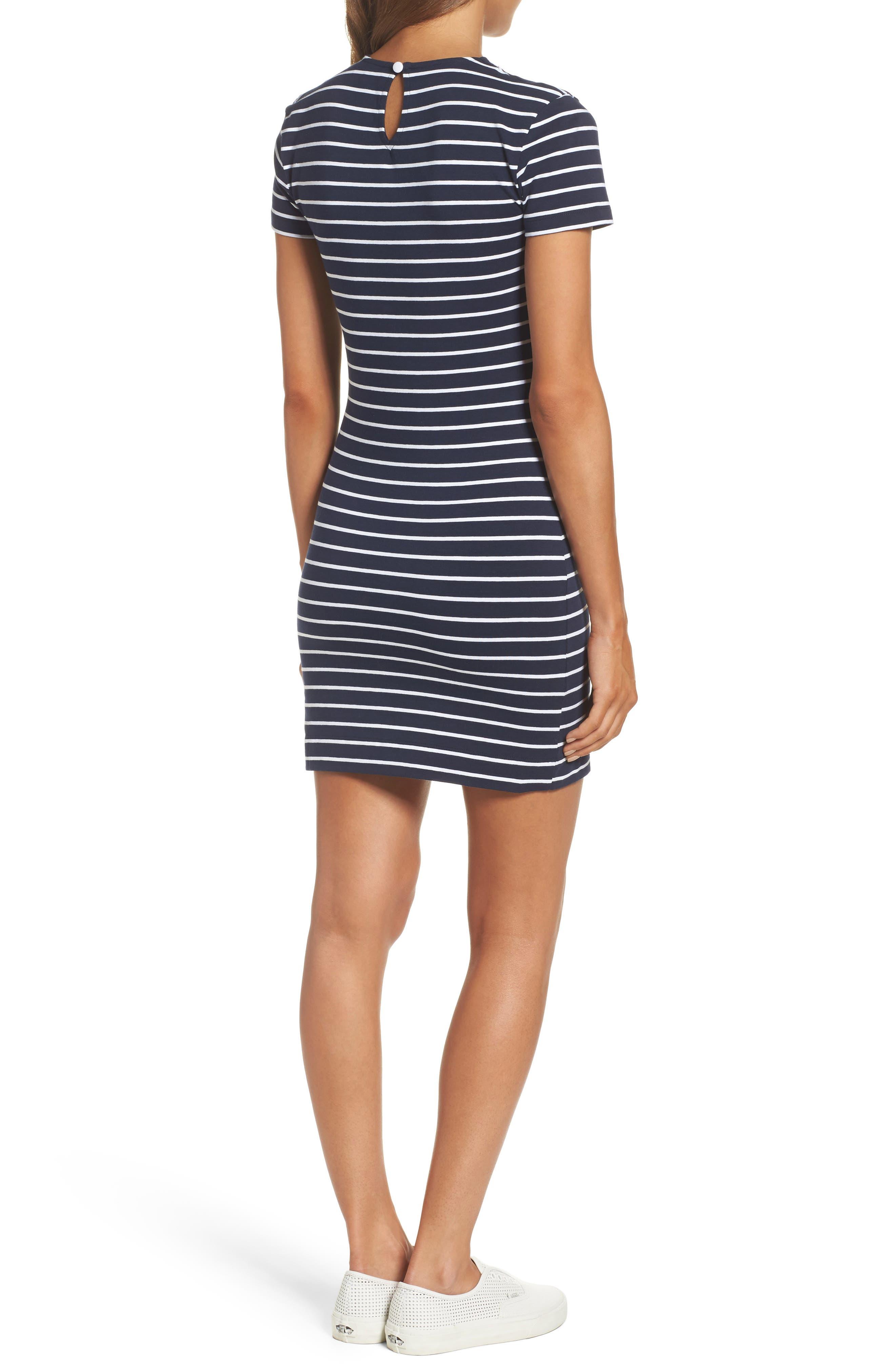 Stripe T-Shirt Dress,                             Alternate thumbnail 2, color,                             490