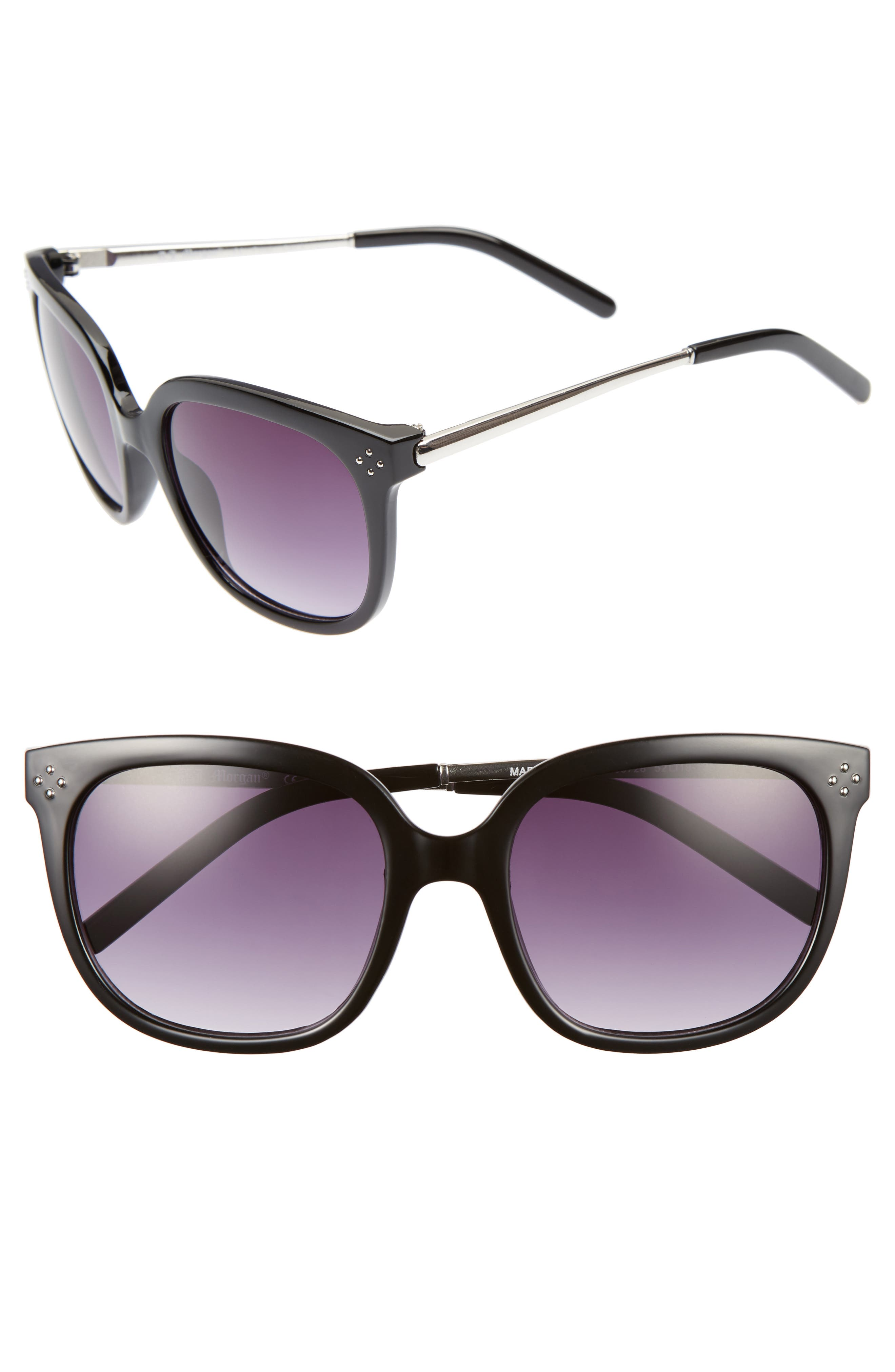 Dowager 52mm Sunglasses,                         Main,                         color, 001