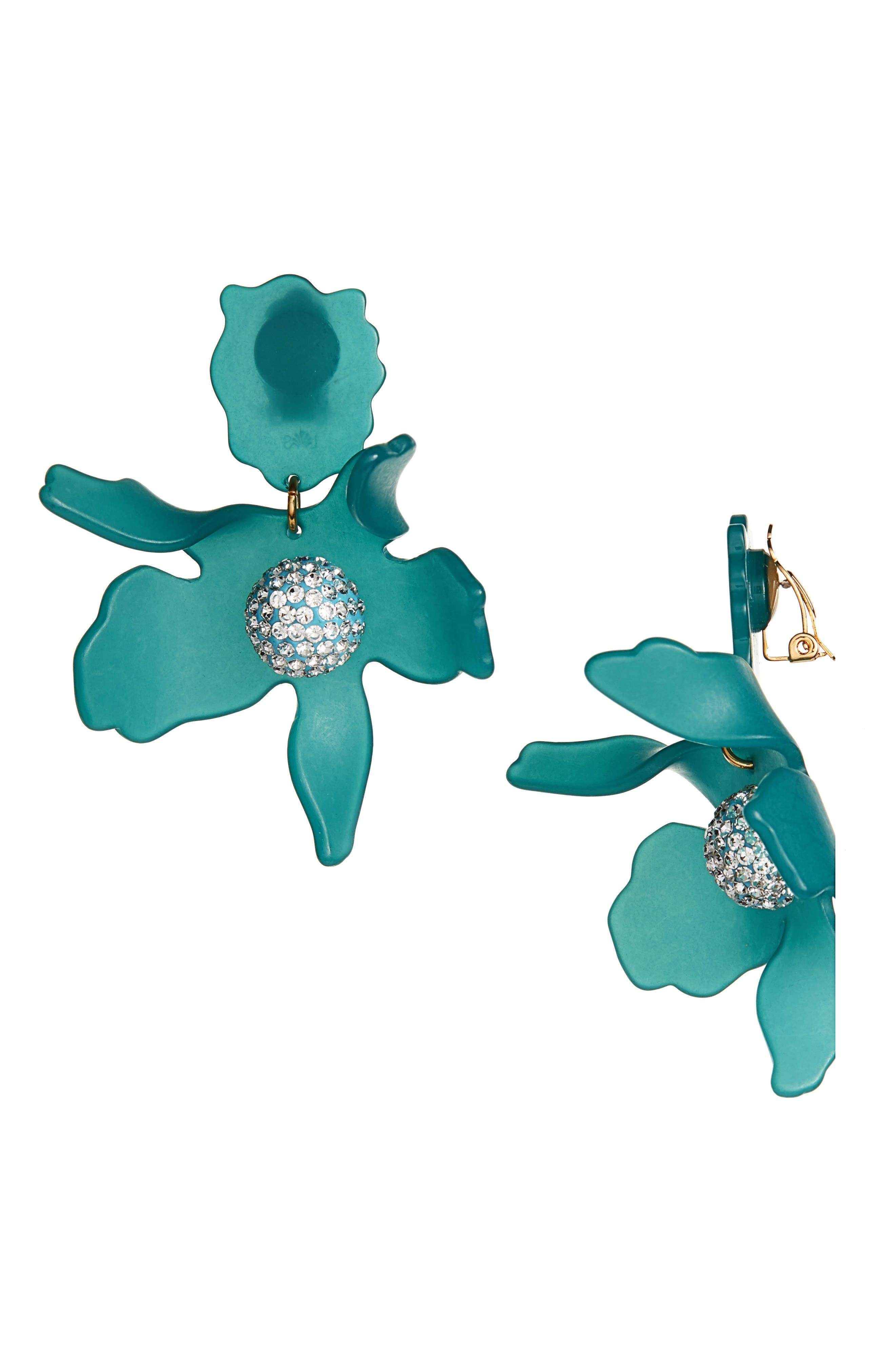 Crystal Drop Earrings,                             Main thumbnail 1, color,                             LAGOON BLUE