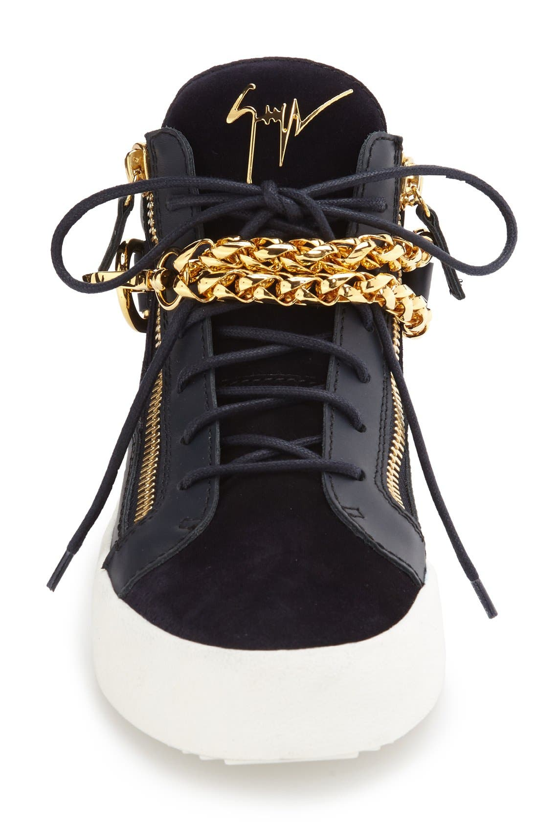 Chain Mid Top Sneaker,                             Alternate thumbnail 3, color,                             410