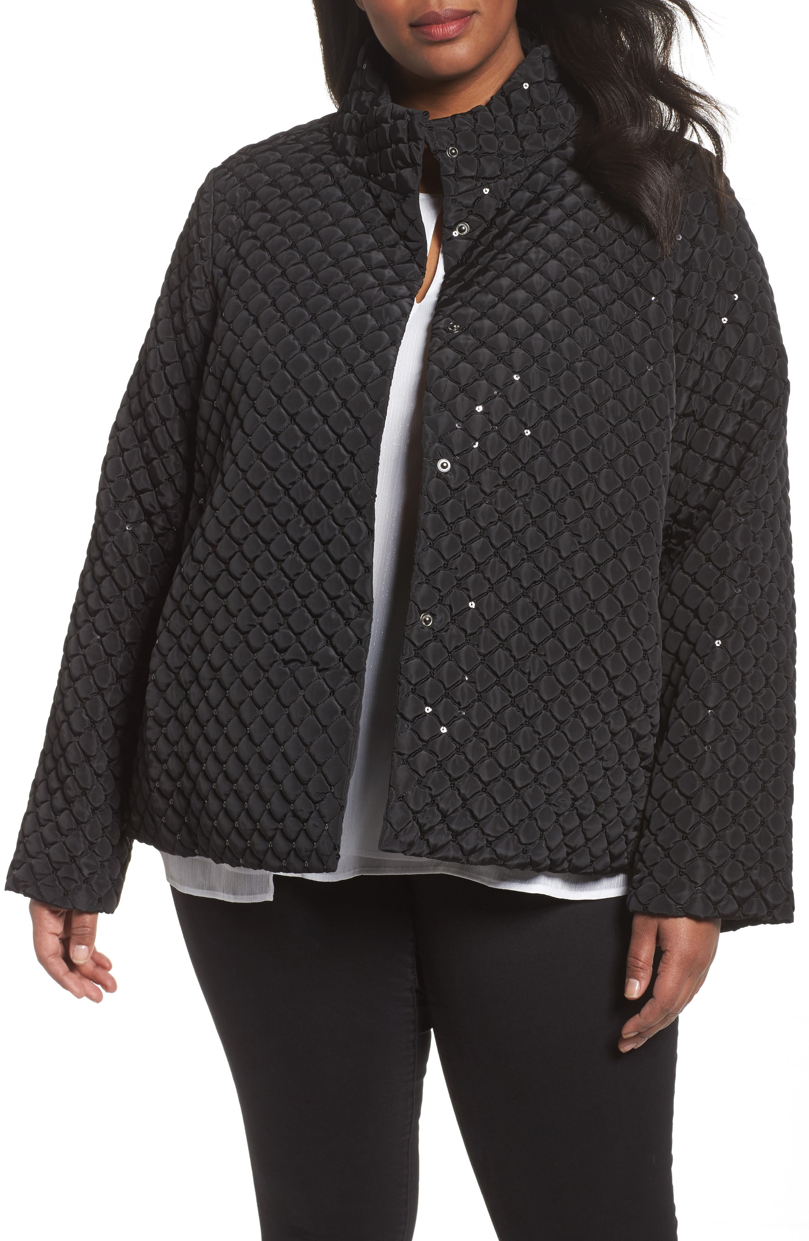 Papaia Sequin Jacket,                         Main,                         color, 001