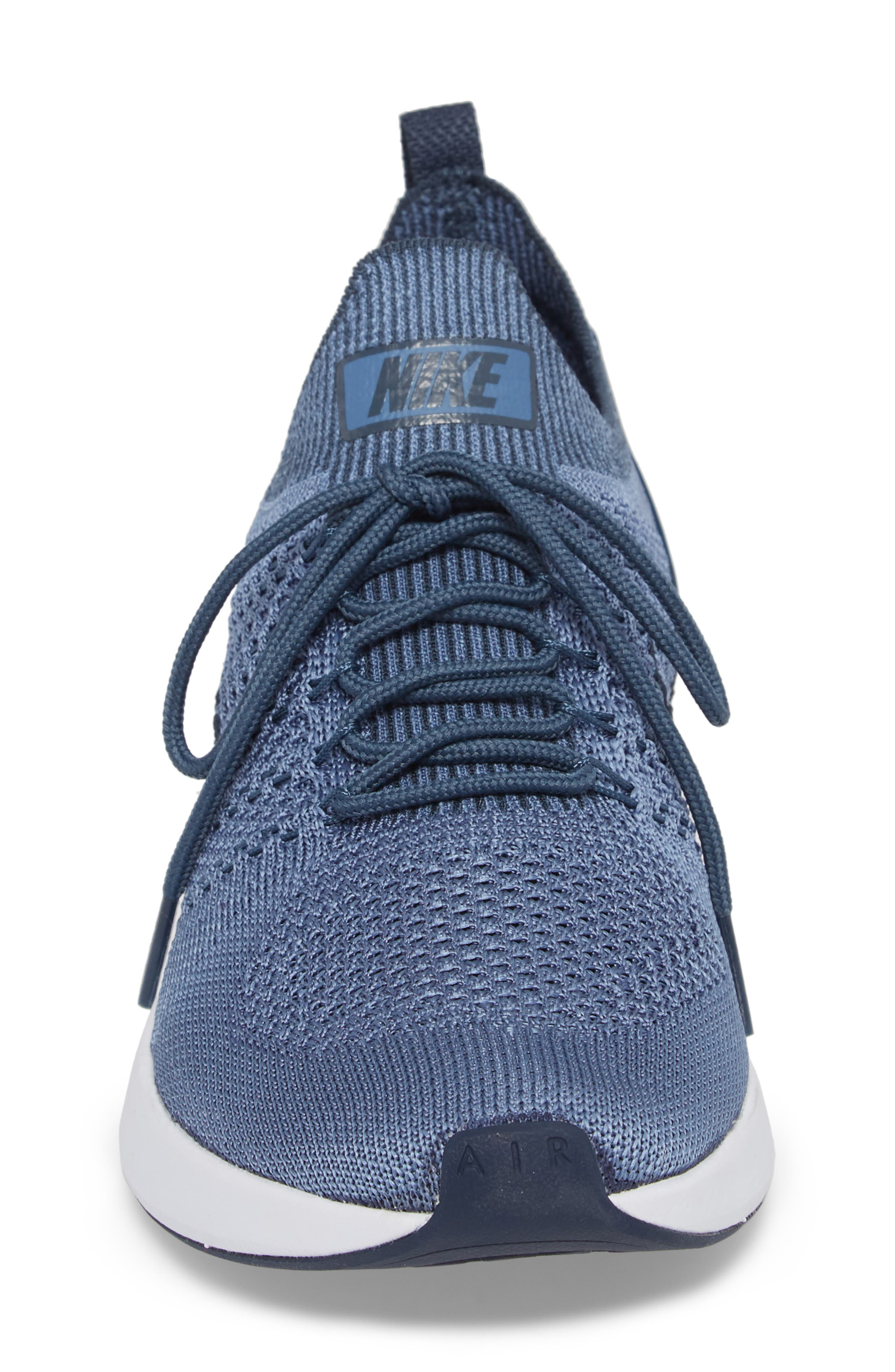 Air Zoom Mariah Flyknit Racer Sneaker,                             Alternate thumbnail 4, color,                             OCEAN FOG/ BLUE/ WHITE