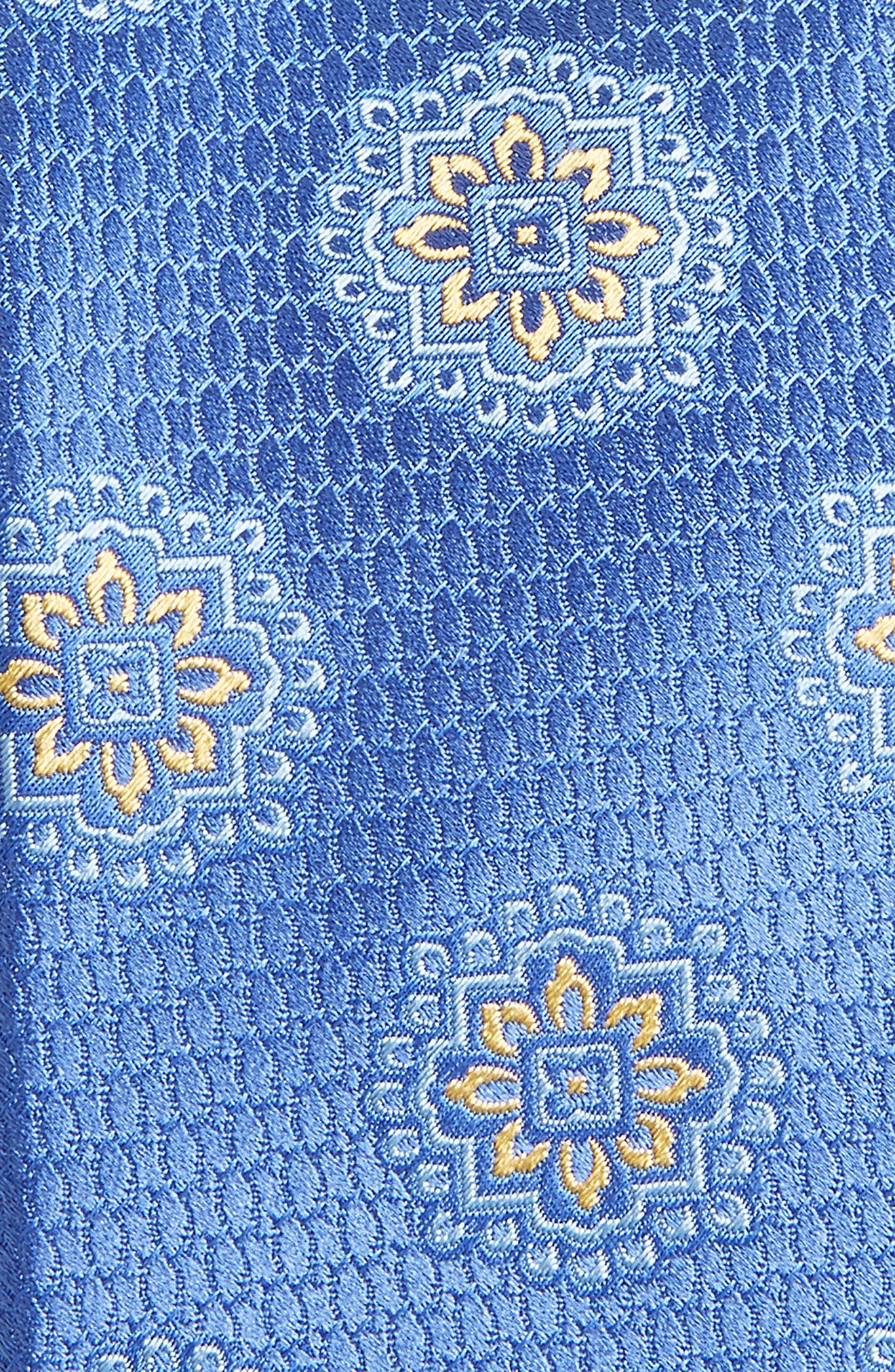 Medallion Silk Tie,                             Alternate thumbnail 2, color,                             LIGHT BLUE