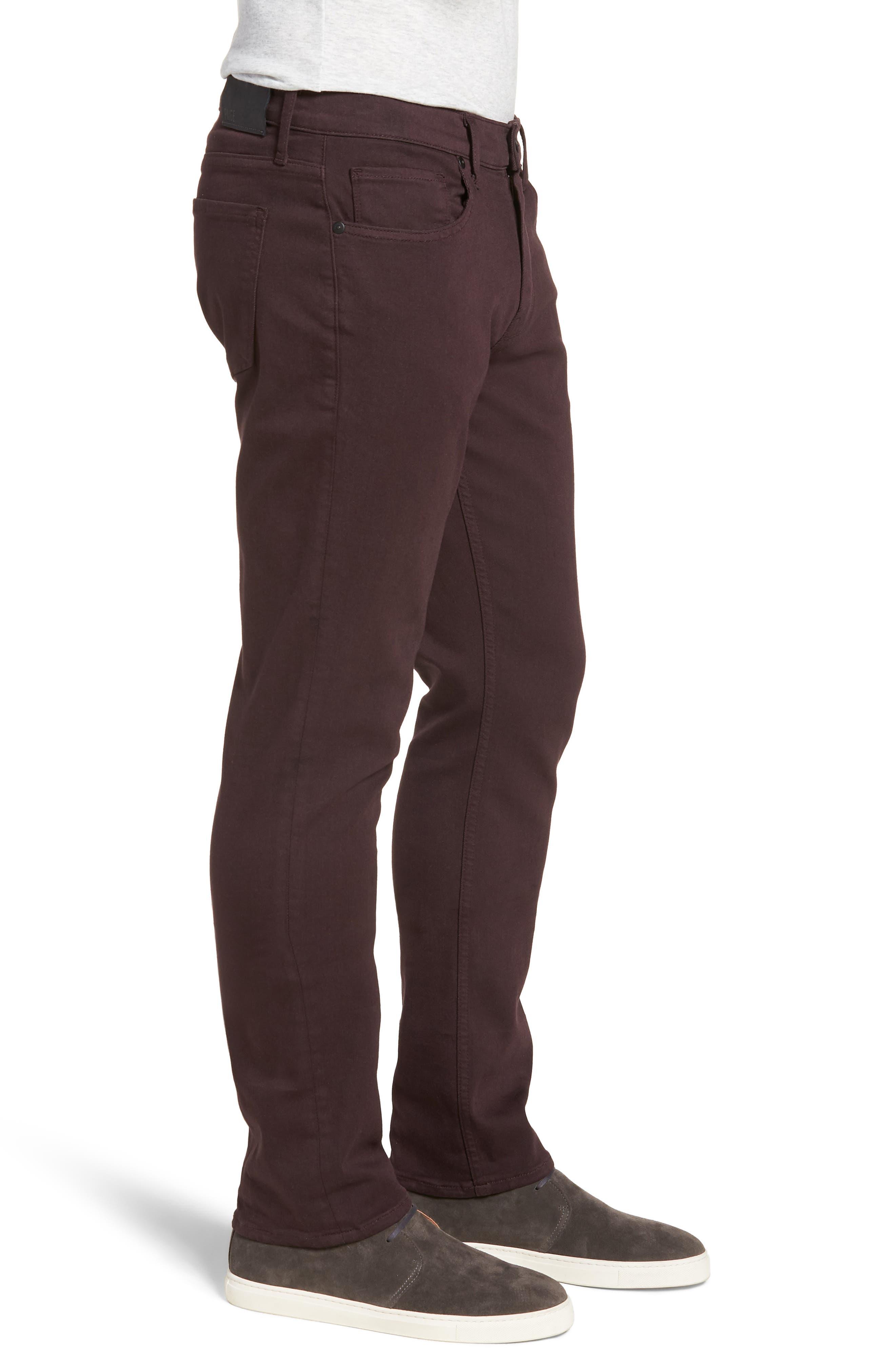Transcend - Federal Silm Straight Fit Jeans,                             Alternate thumbnail 3, color,                             DARK PORT