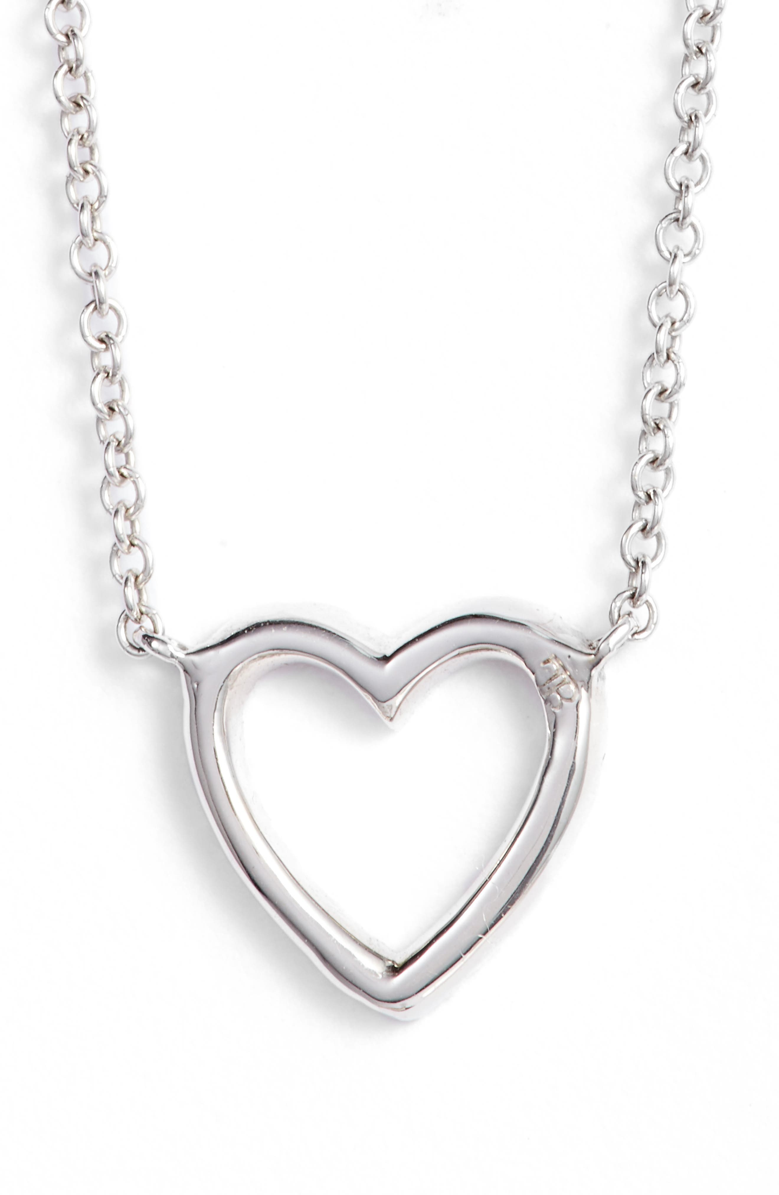Diamond Heart Pendant Necklace,                             Alternate thumbnail 5, color,                             710