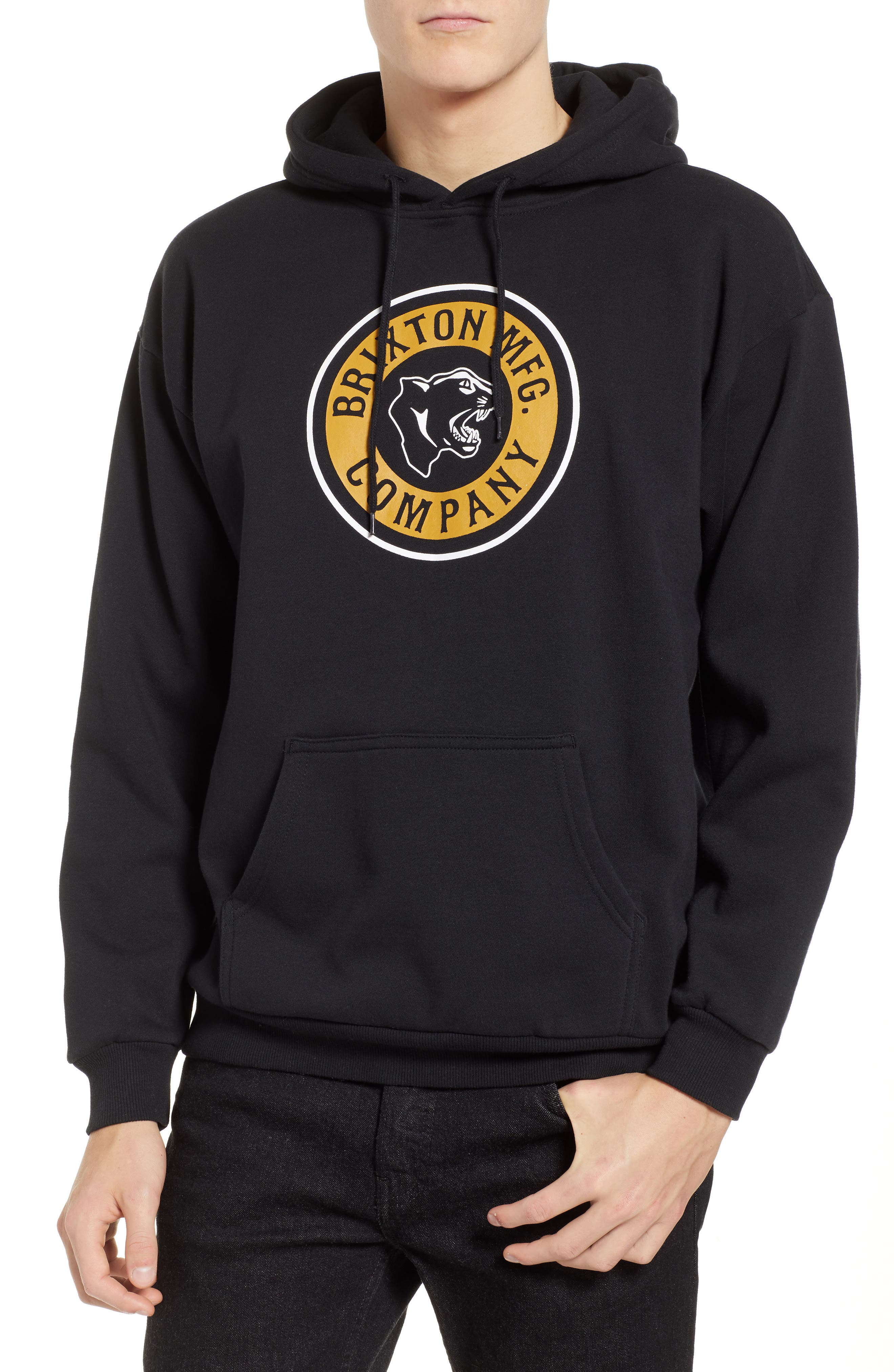 Forte Hooded Sweatshirt,                             Main thumbnail 1, color,                             BLACK