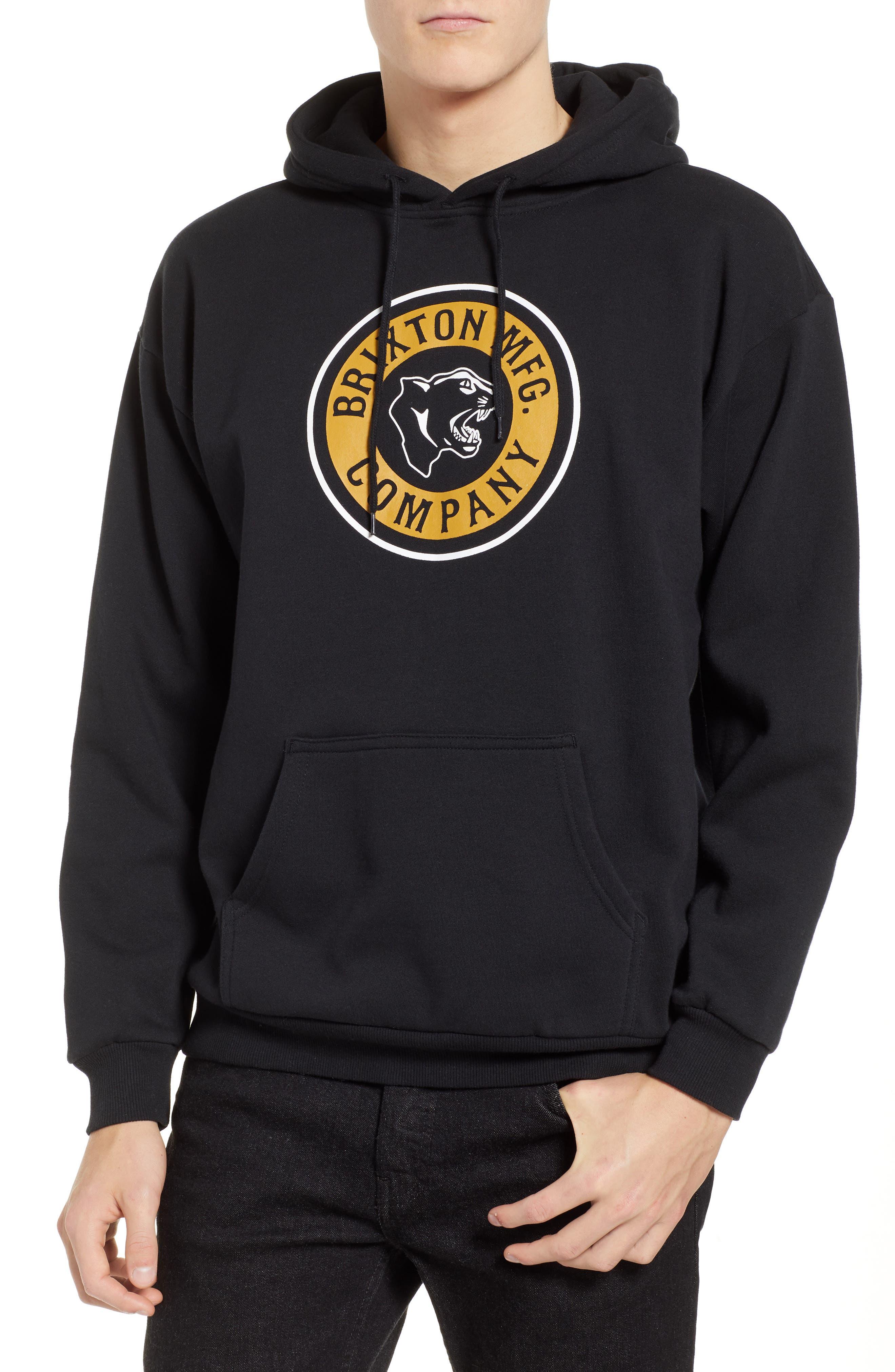 Forte Hooded Sweatshirt,                         Main,                         color, BLACK