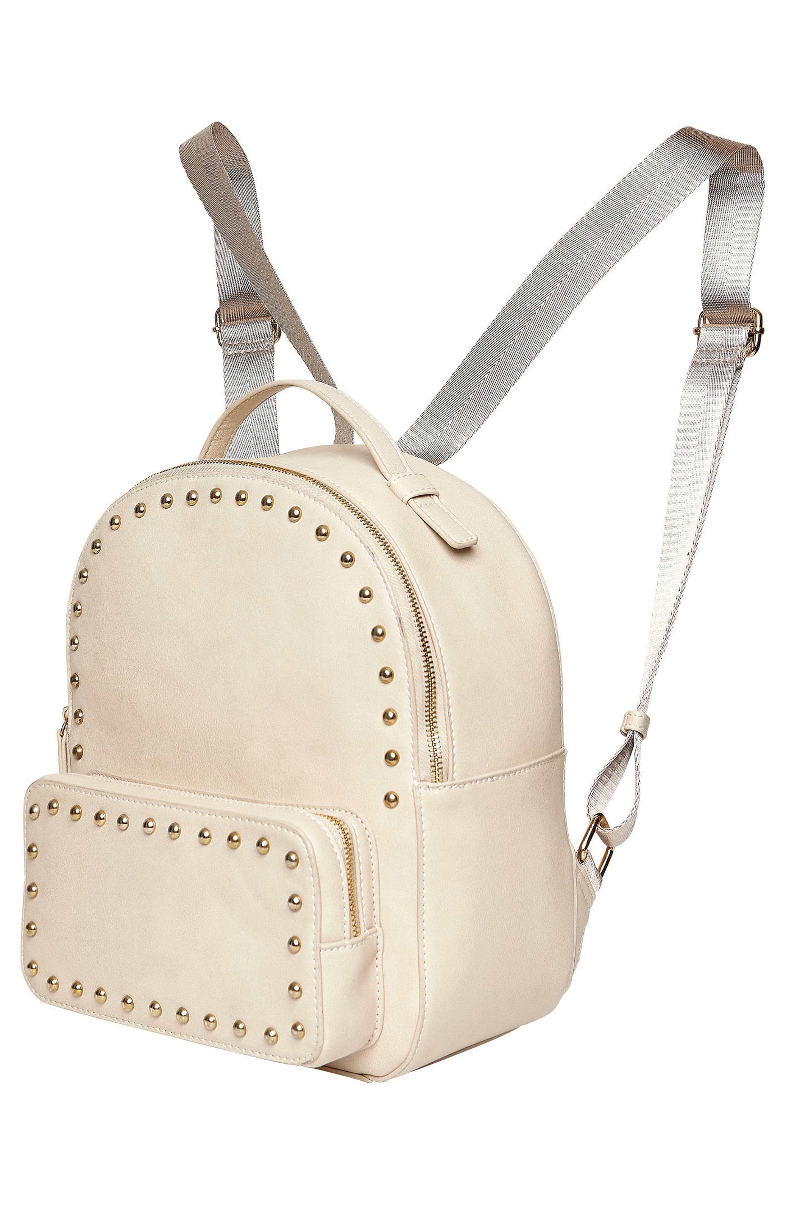 URBAN ORIGINALS,                             Star Seeker Vegan Leather Backpack,                             Alternate thumbnail 4, color,                             STONE
