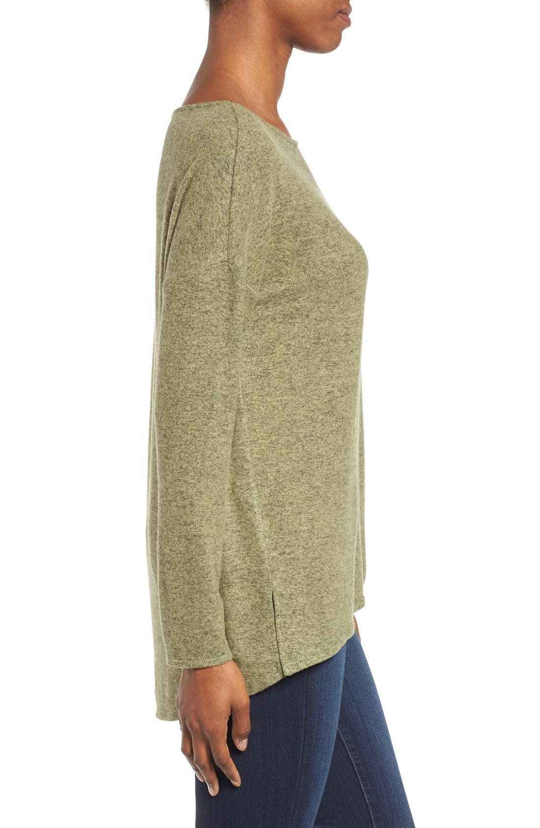 Cozy Ballet Neck High/Low Pullover,                             Alternate thumbnail 62, color,
