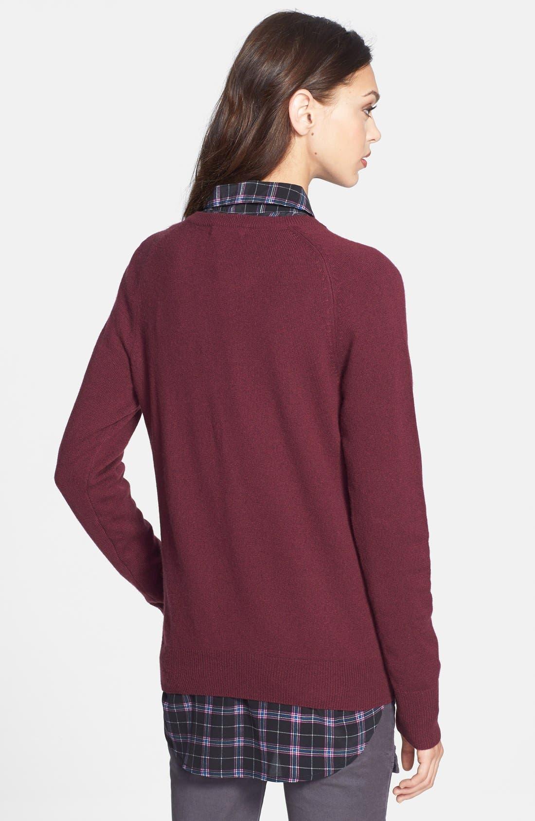 'Reese' Print Silk Shirt,                             Alternate thumbnail 3, color,                             006