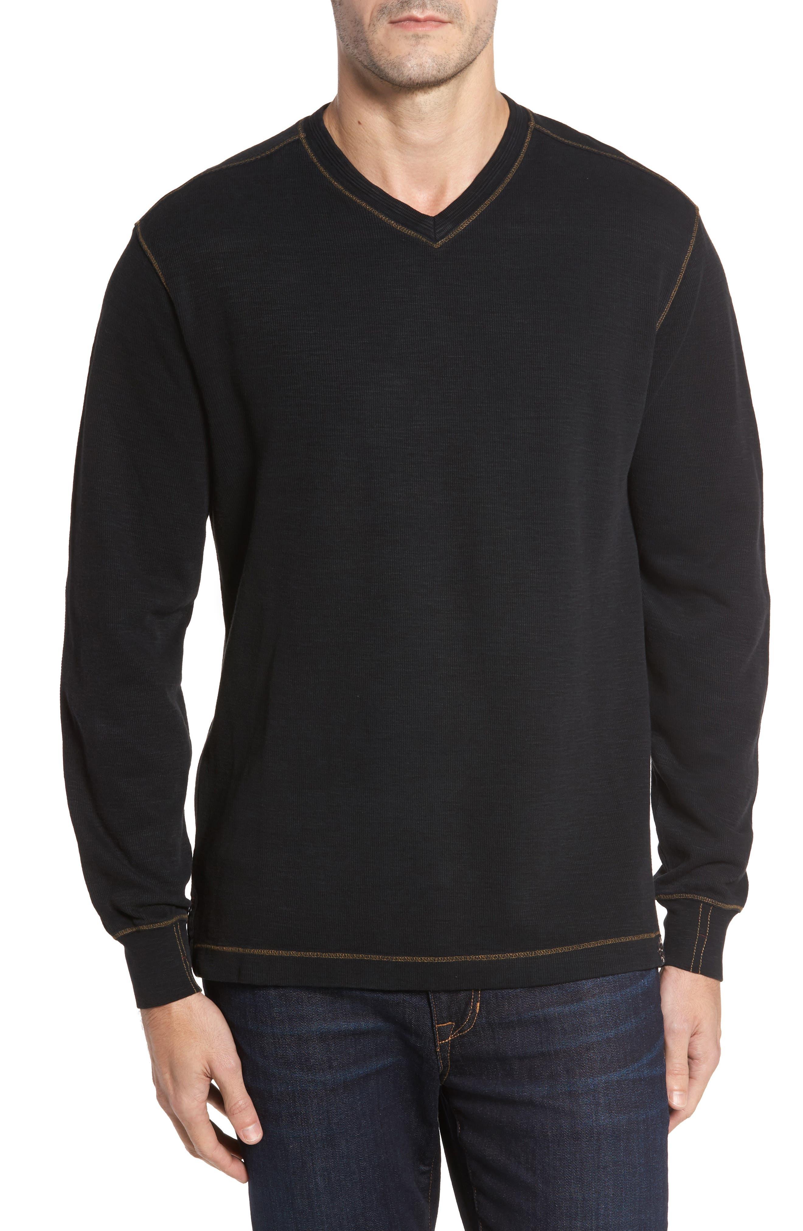 Anthony Slubbed Long Sleeve V-Neck T-Shirt,                             Main thumbnail 1, color,                             001
