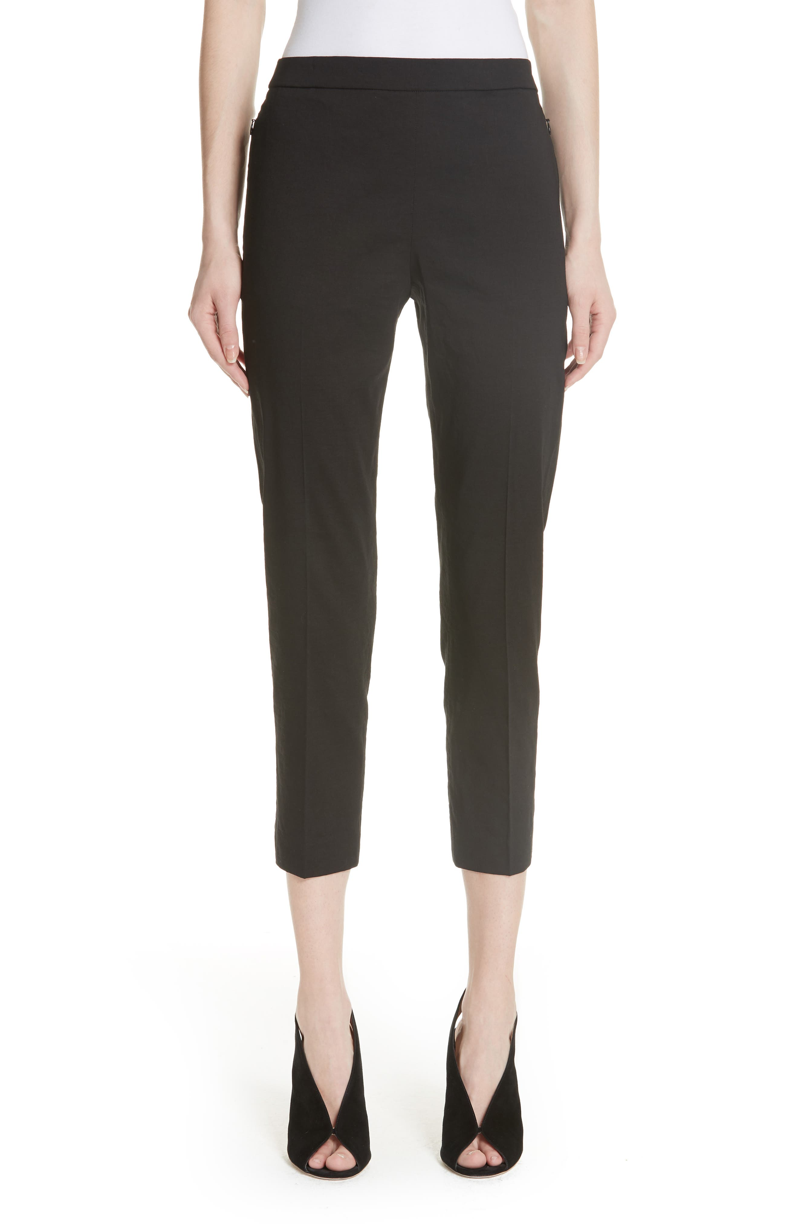 Pull-On Linen Blend Pants,                         Main,                         color, 001