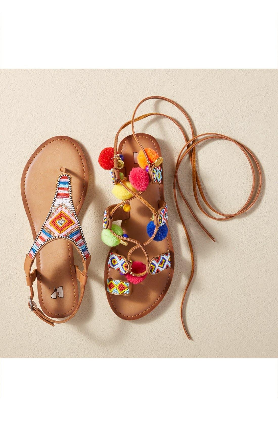 Zandra Beaded V-Strap Sandal,                             Alternate thumbnail 5, color,                             200