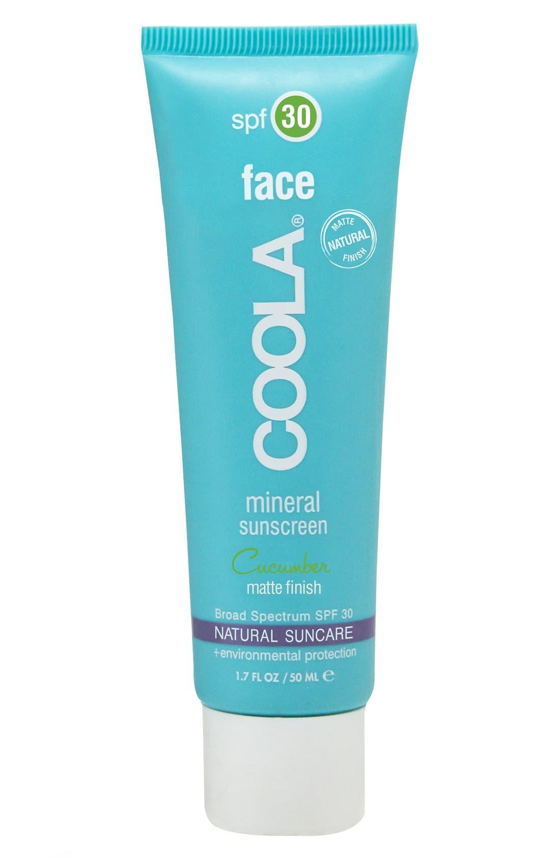 Coola Suncare Cucumber Face Mineral Sunscreen Spf 30