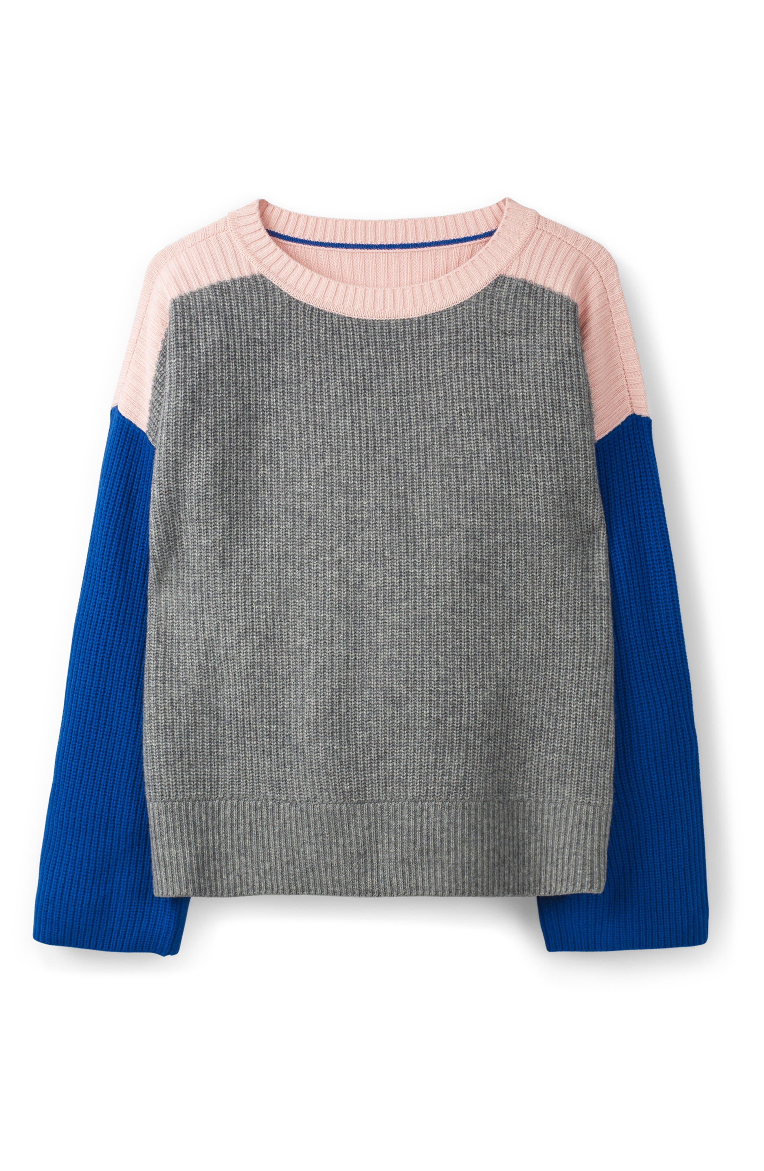 Sophie Colorblock Sweater,                             Alternate thumbnail 3, color,                             GREY MELANGE
