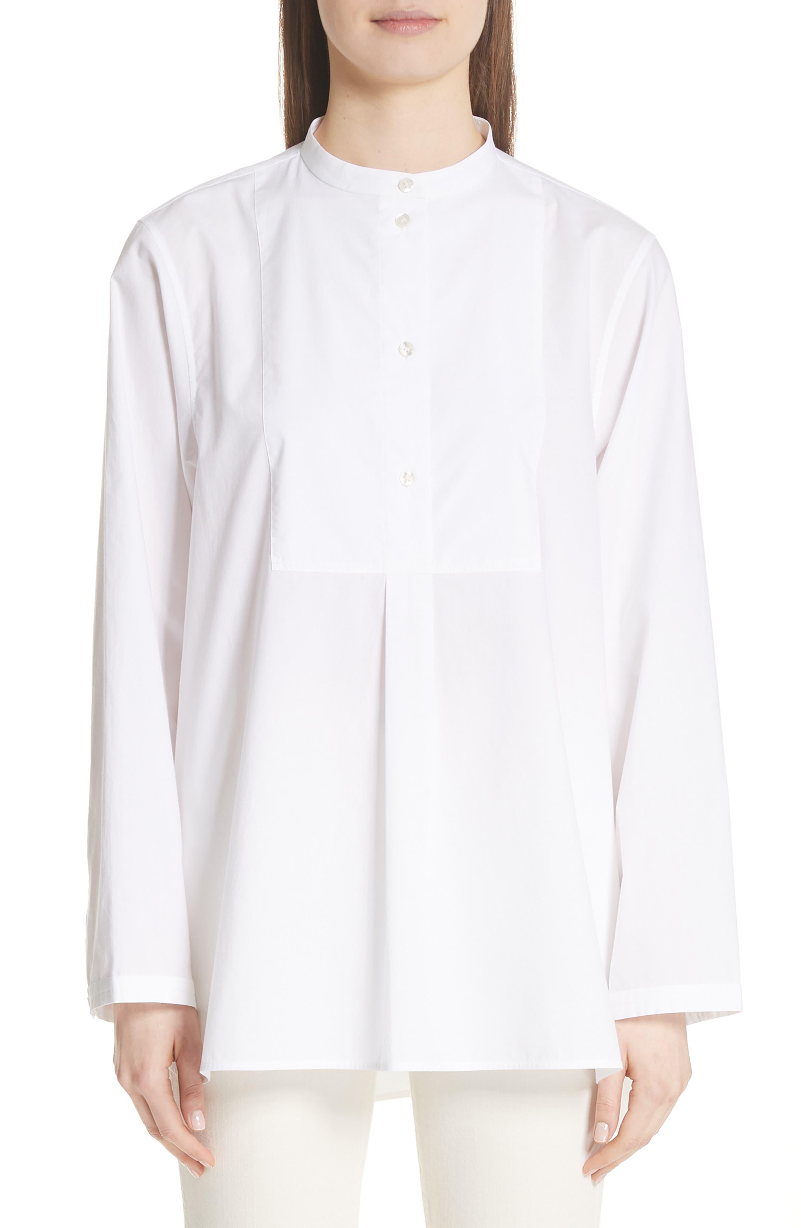 Lysanne Poplin Shirt,                             Main thumbnail 1, color,                             100