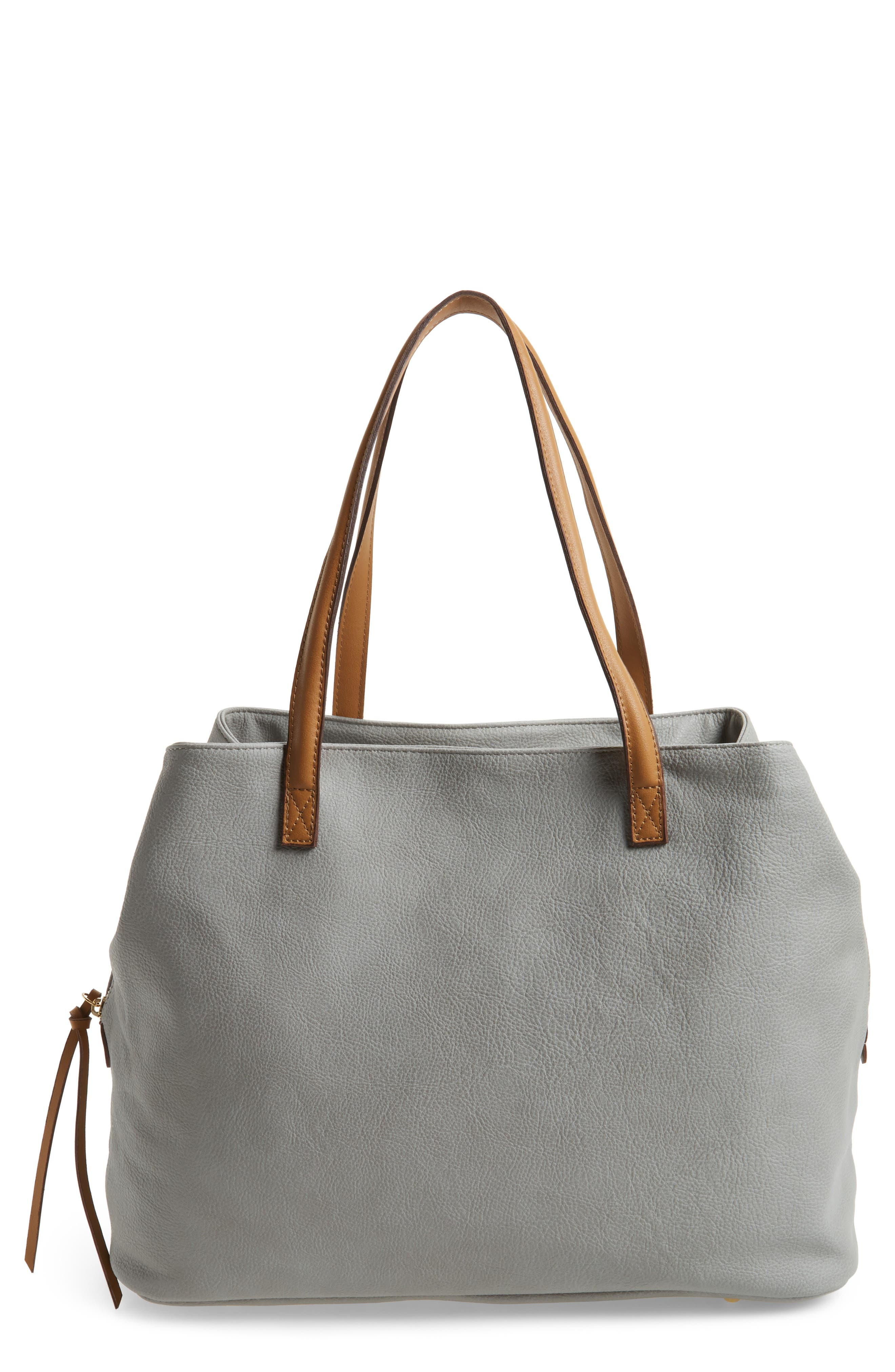 Millar Faux Leather Tote,                             Main thumbnail 1, color,                             020