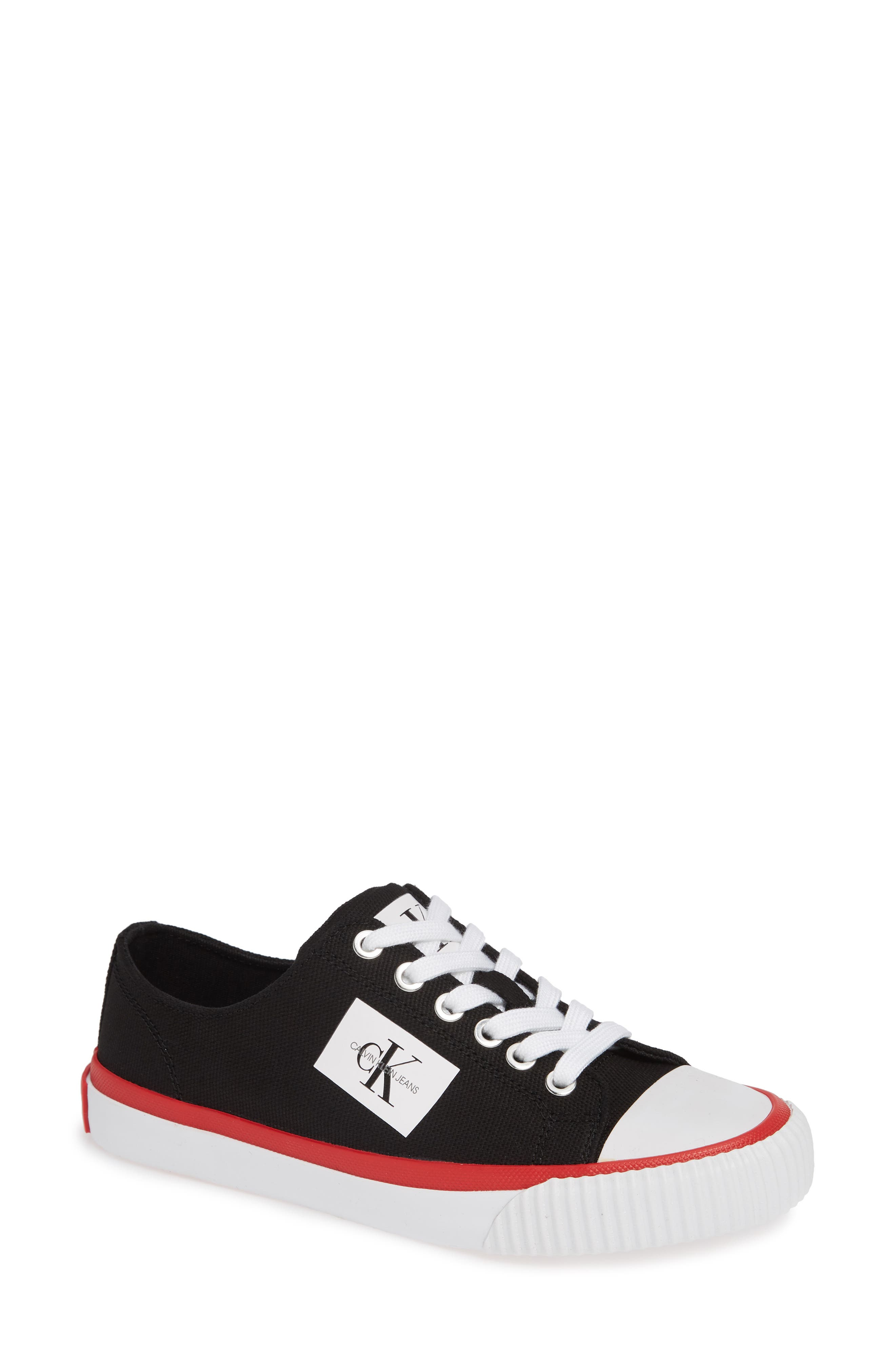 Ivory Lace-Up Sneaker,                         Main,                         color, 001